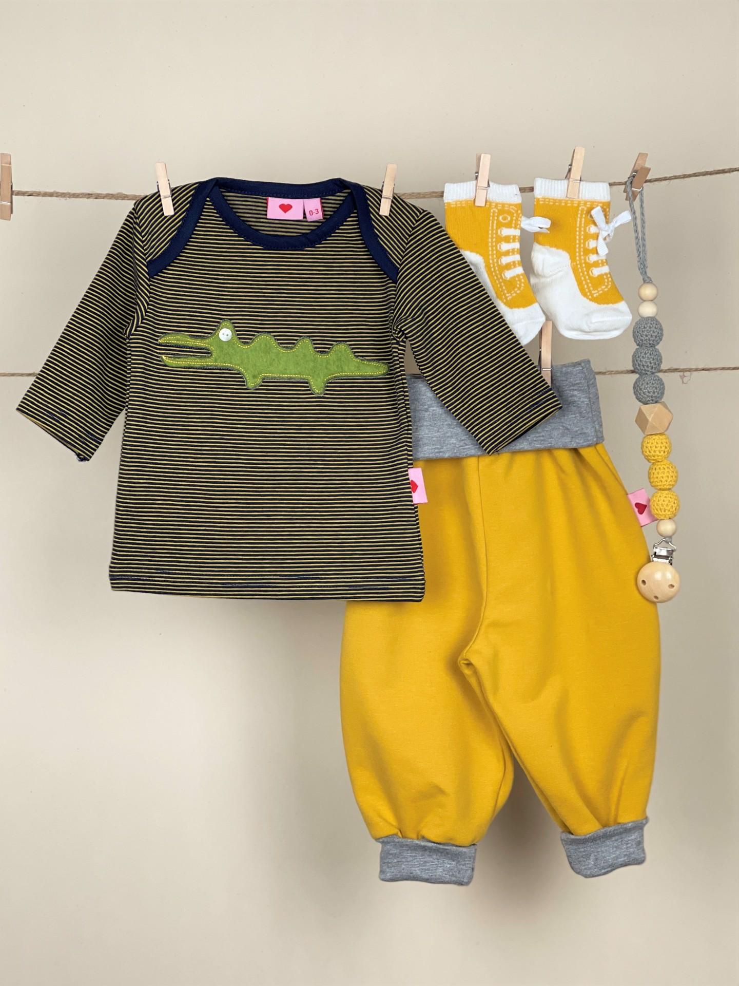 Shirt Kroko ocker