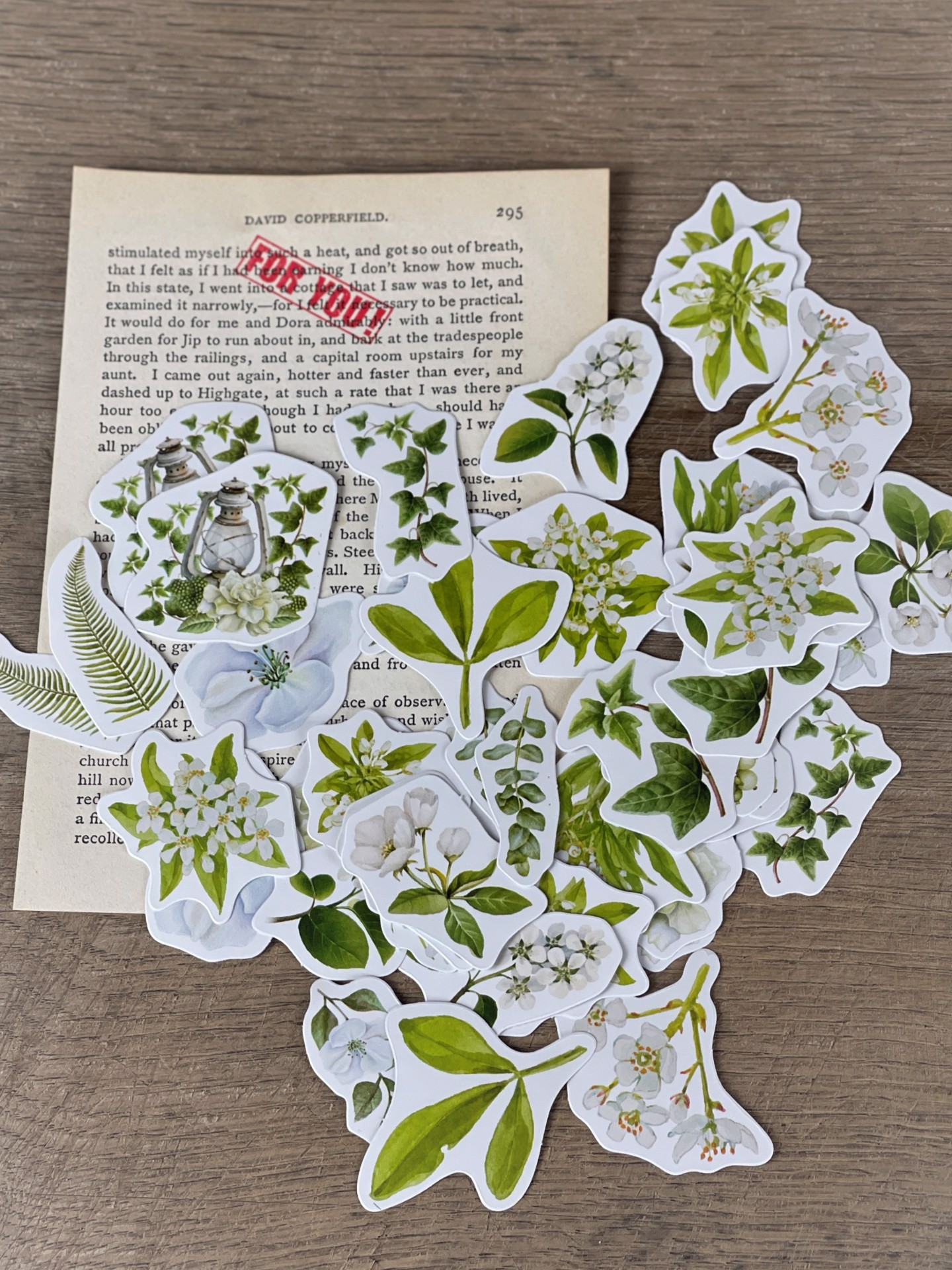 Stickerset Blumen grün