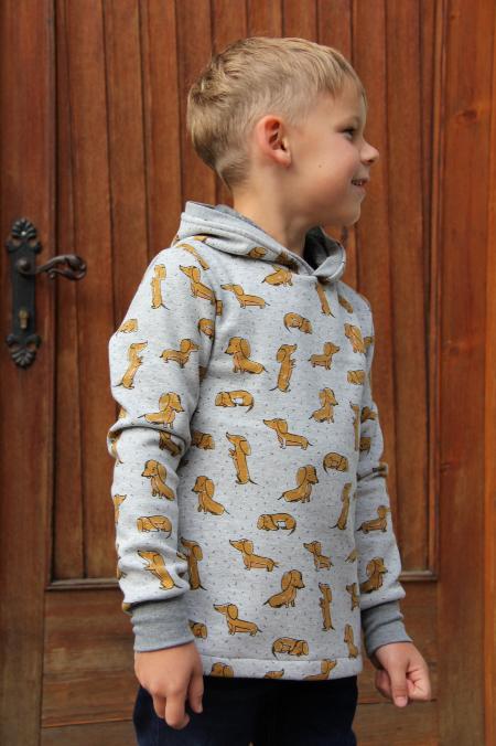 Pullover  Dackel grau/braun