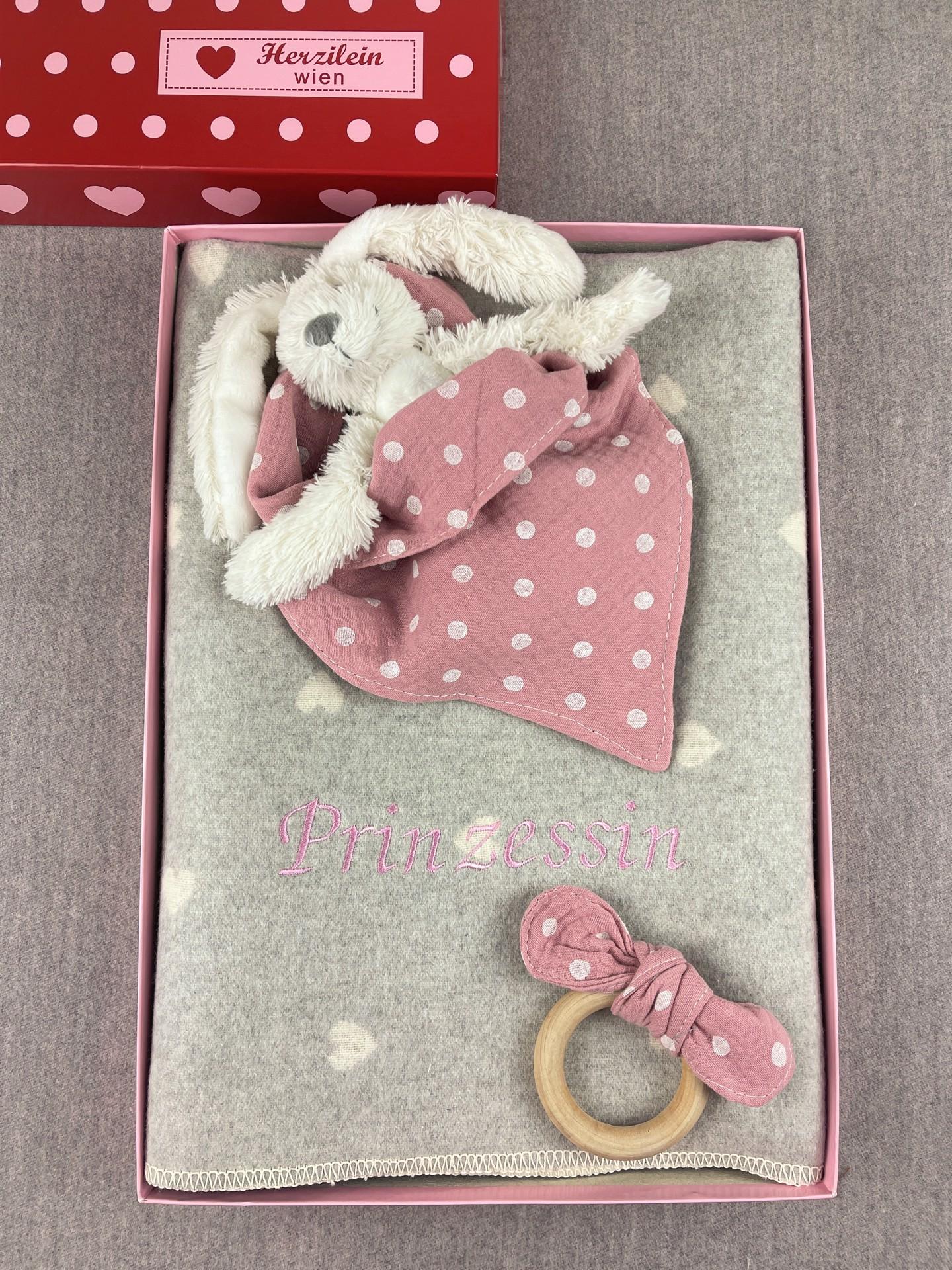 Geschenkbox No. 21 Herz rosa/weiß