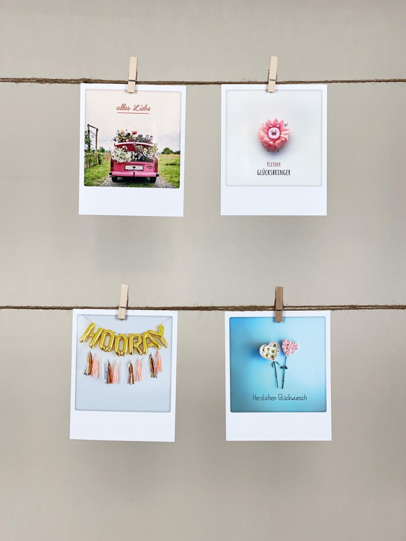 Polaroid-Karten-Set Anlass Allrounder