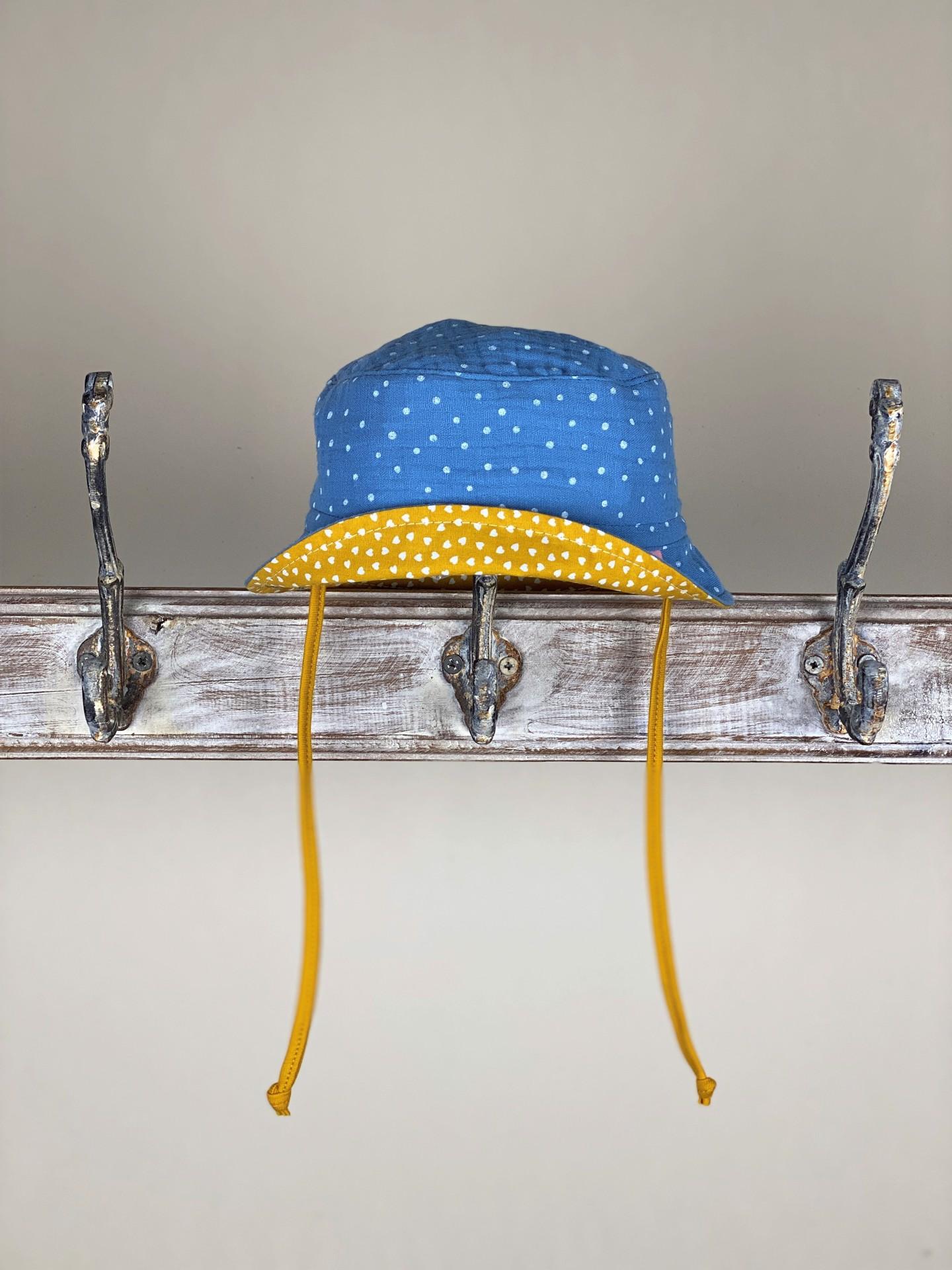 Hut dots blau/gelb