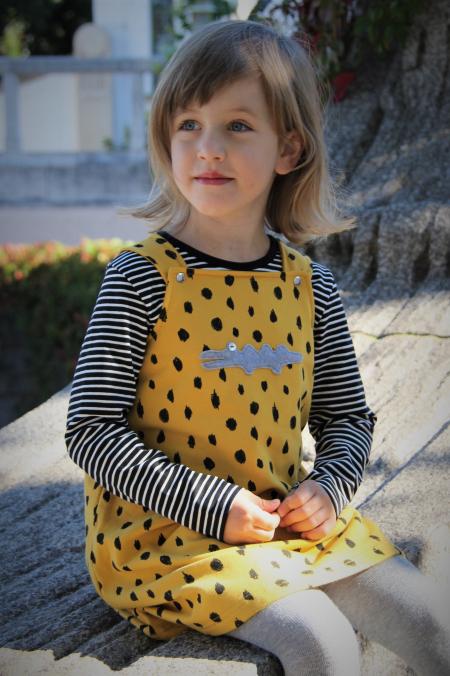 Kleid Kroko  Crazy Dots gelb