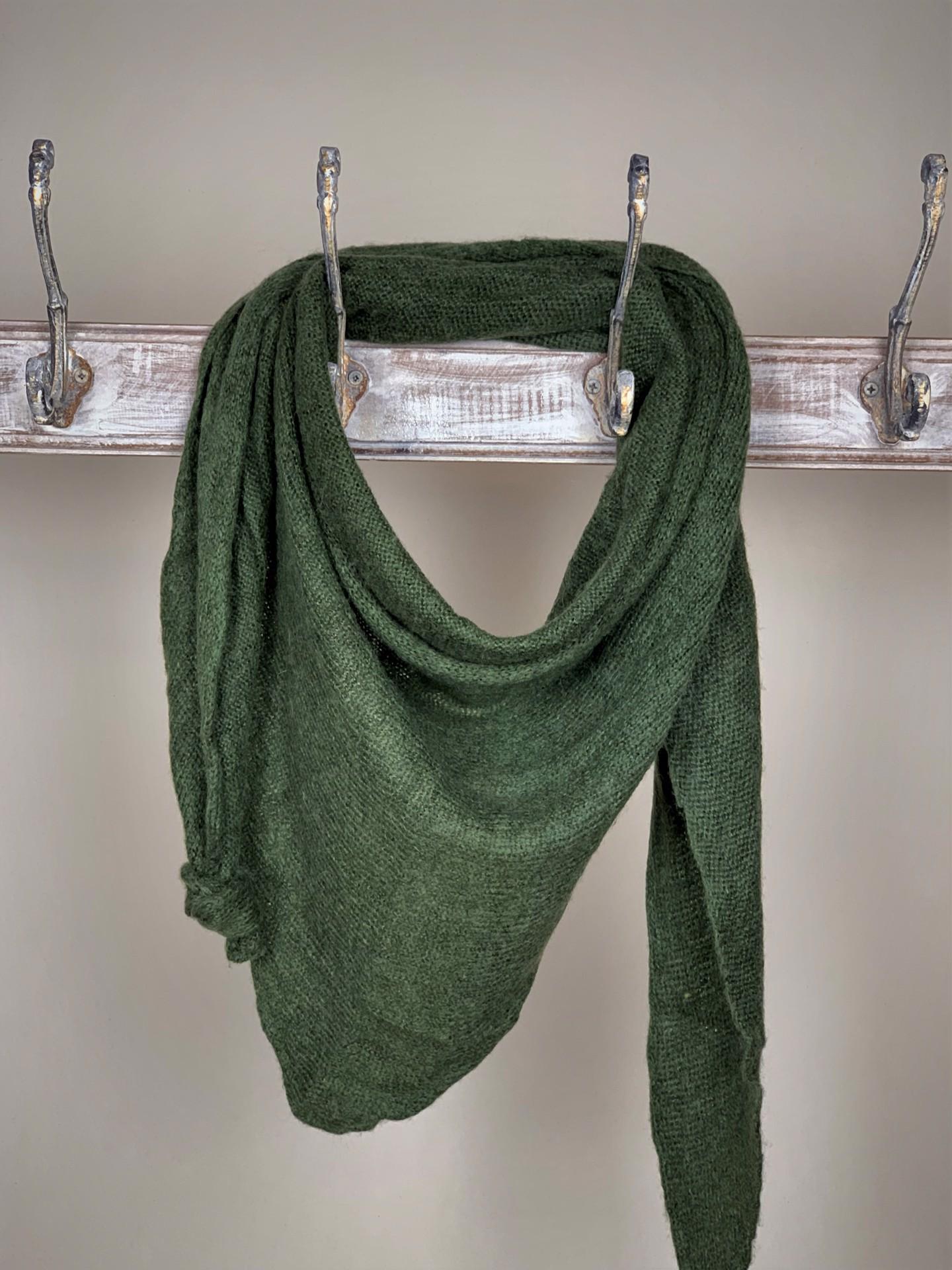 Schal Basic Olivgrün