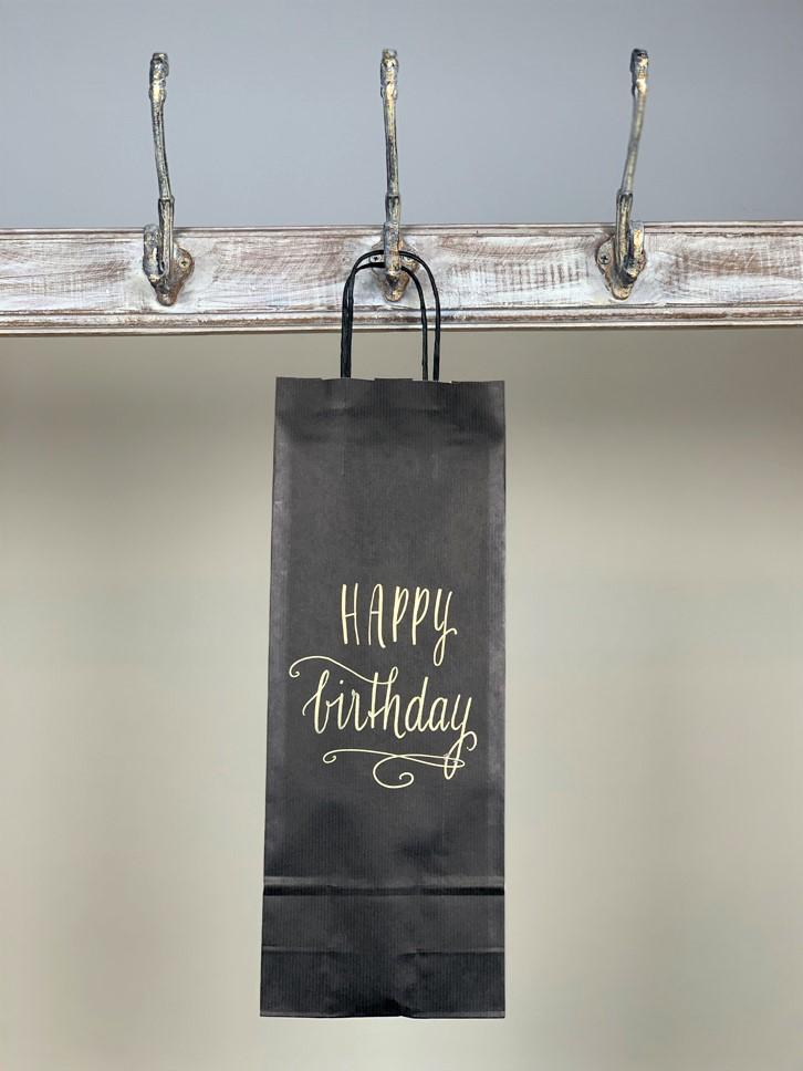 Weintasche Happy Birthday