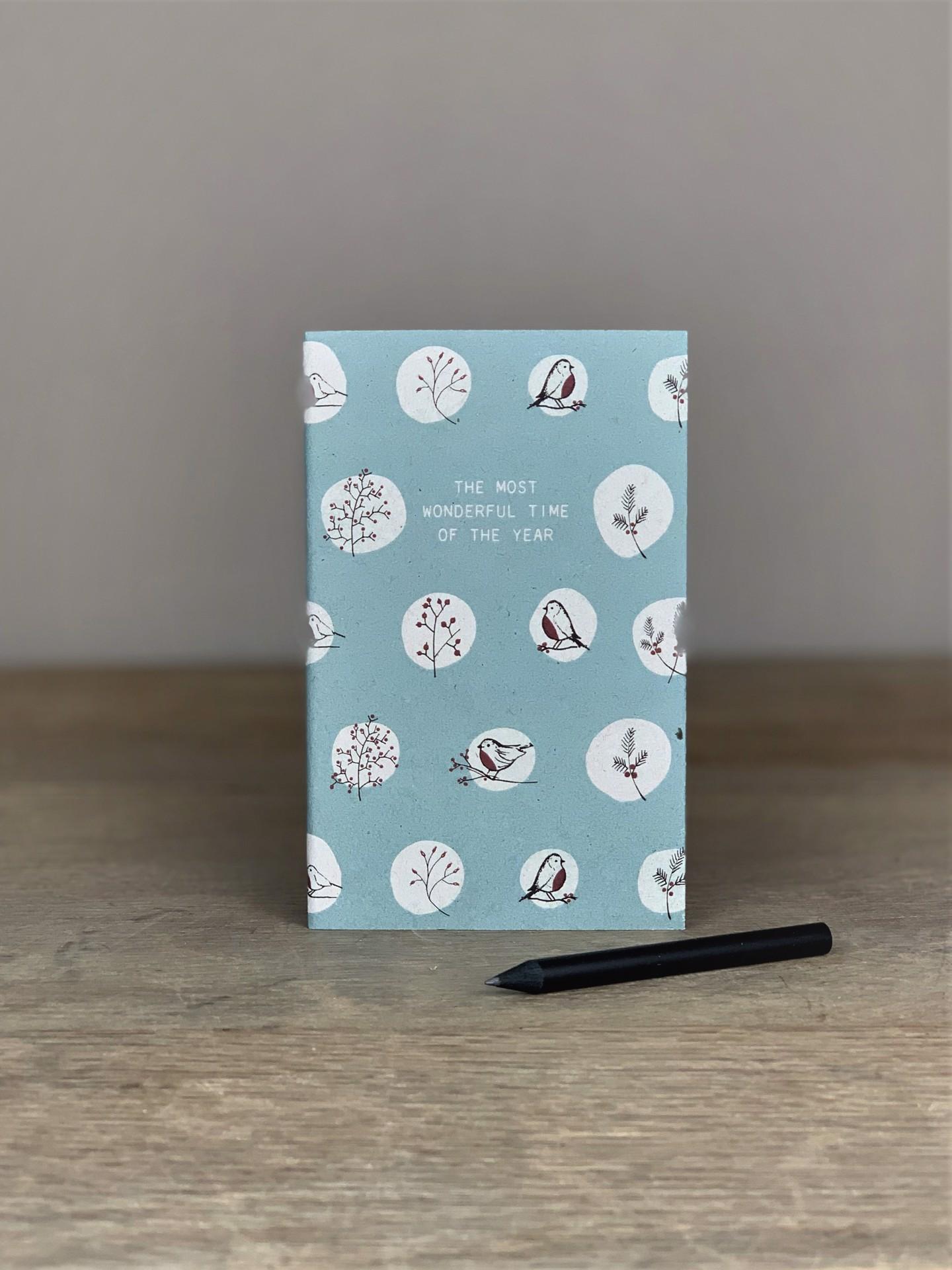 Notizheft Christmas Lists & Ideas blau
