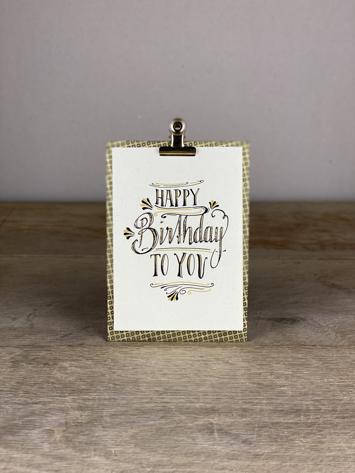 Karte A6 Happy birthday