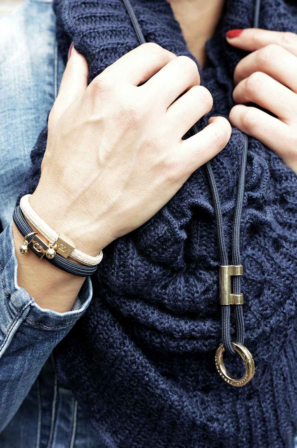 Schlüsselanhänger chic blau
