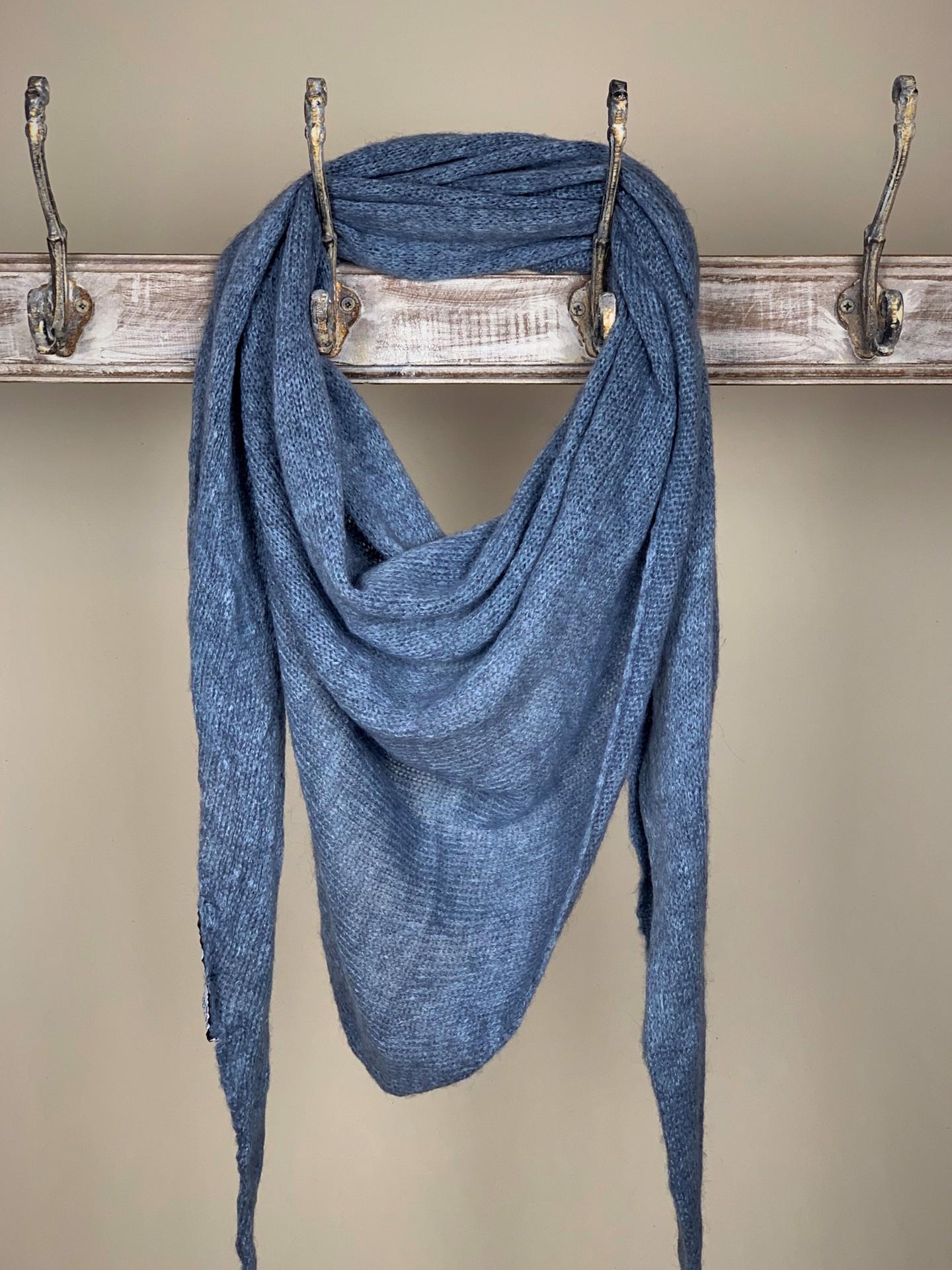 Schal Basic Jeansblau