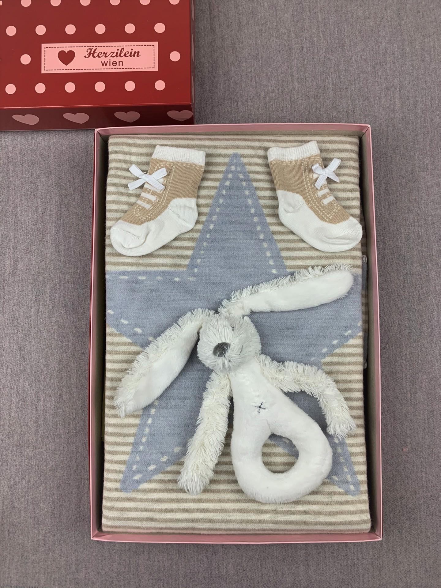 Geschenkbox No. 11 blau/beige Stern