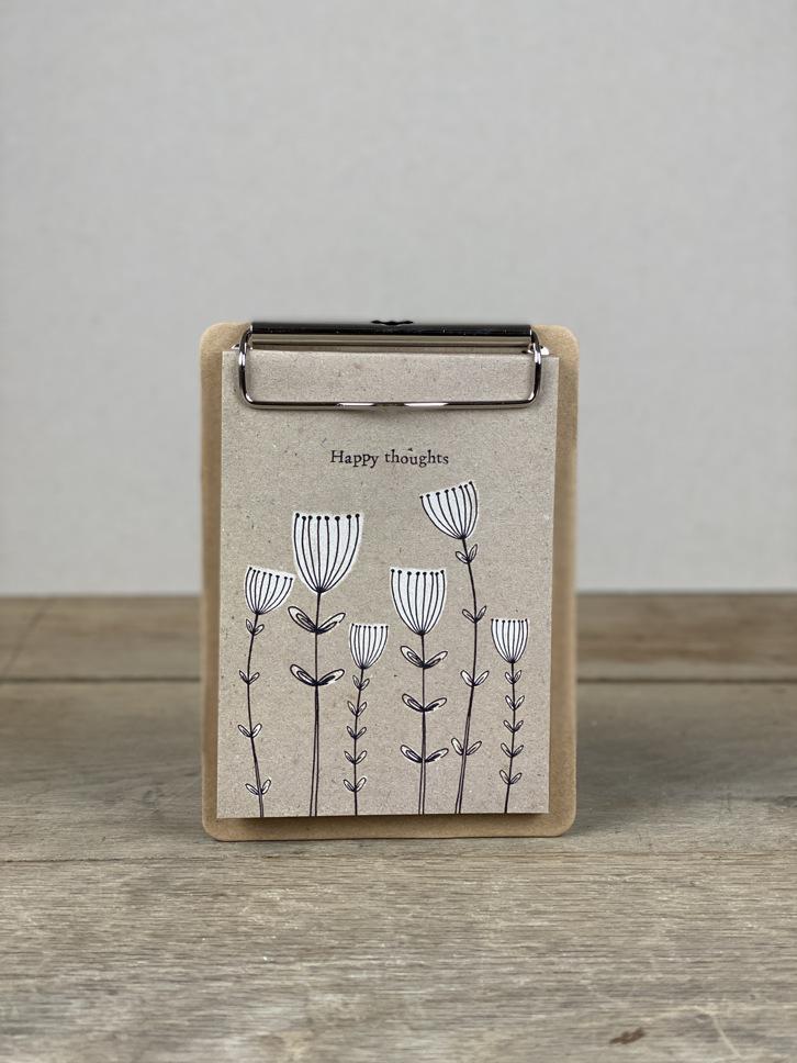 Klemmbrett Blumen weiß