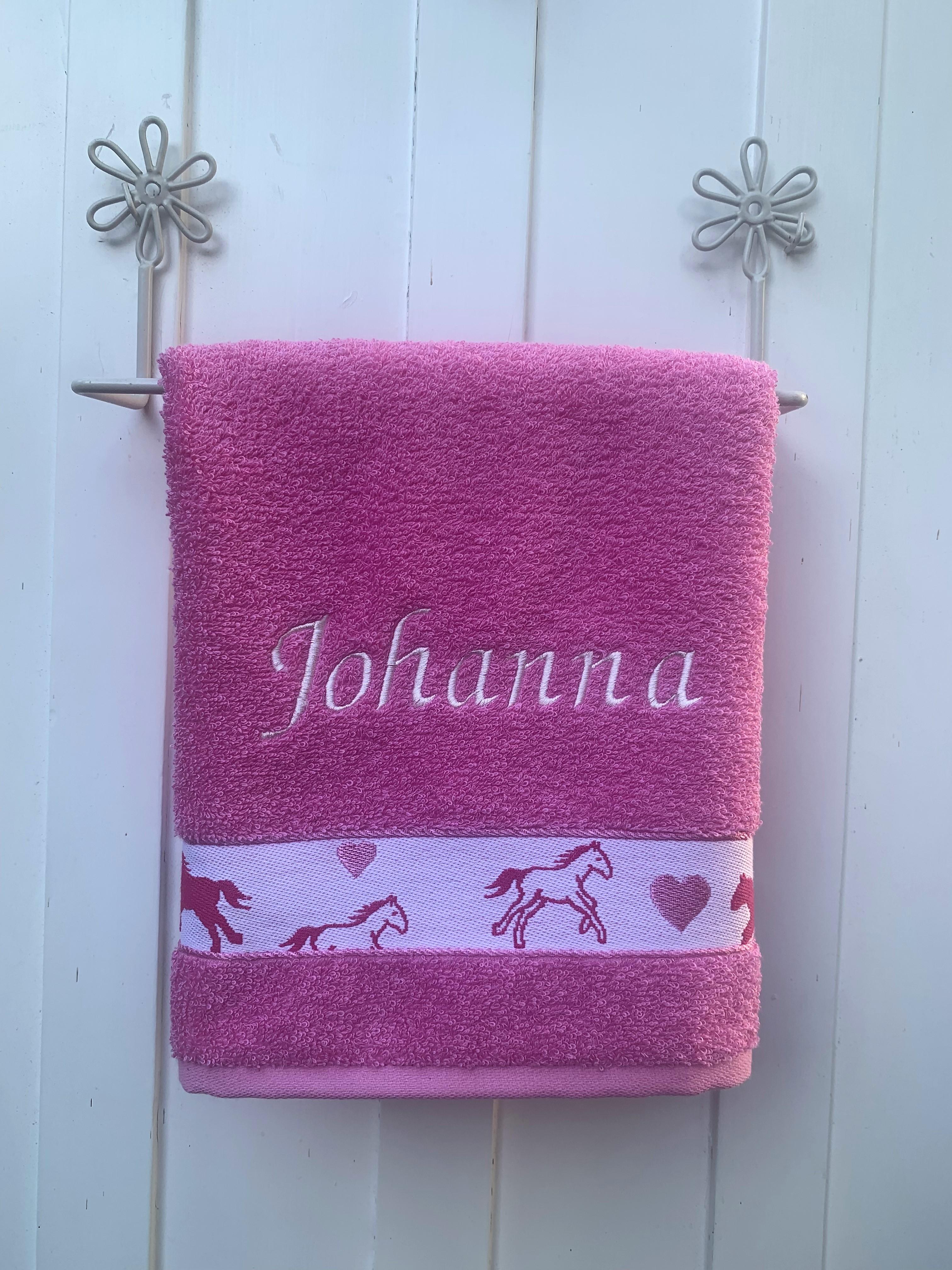 Handtuch  No. 23 Pferd rosa