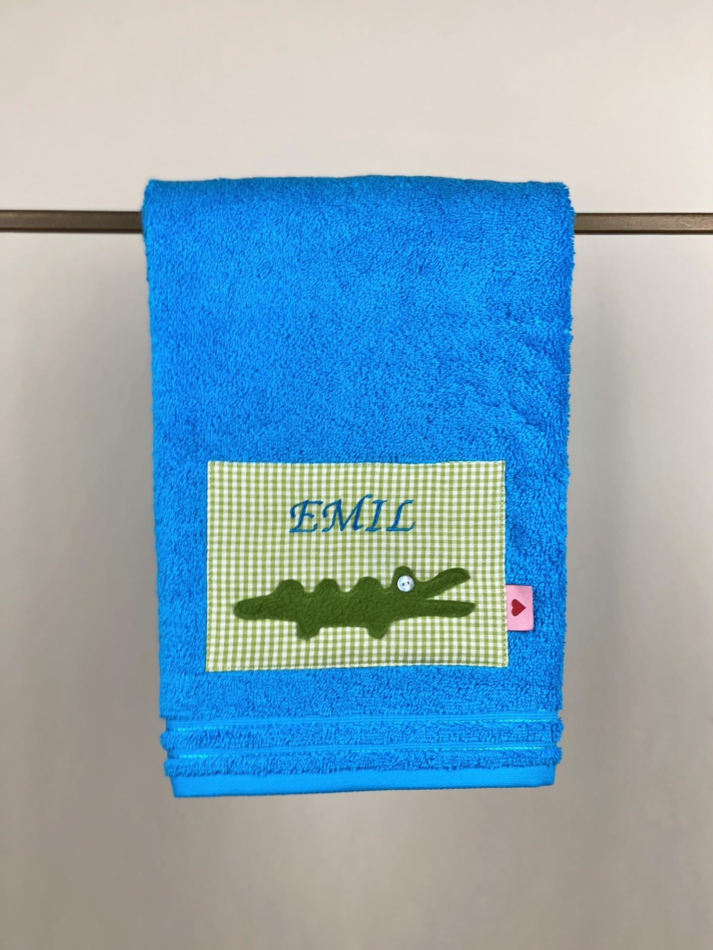 Handtuch No. 16 Kroko türkis