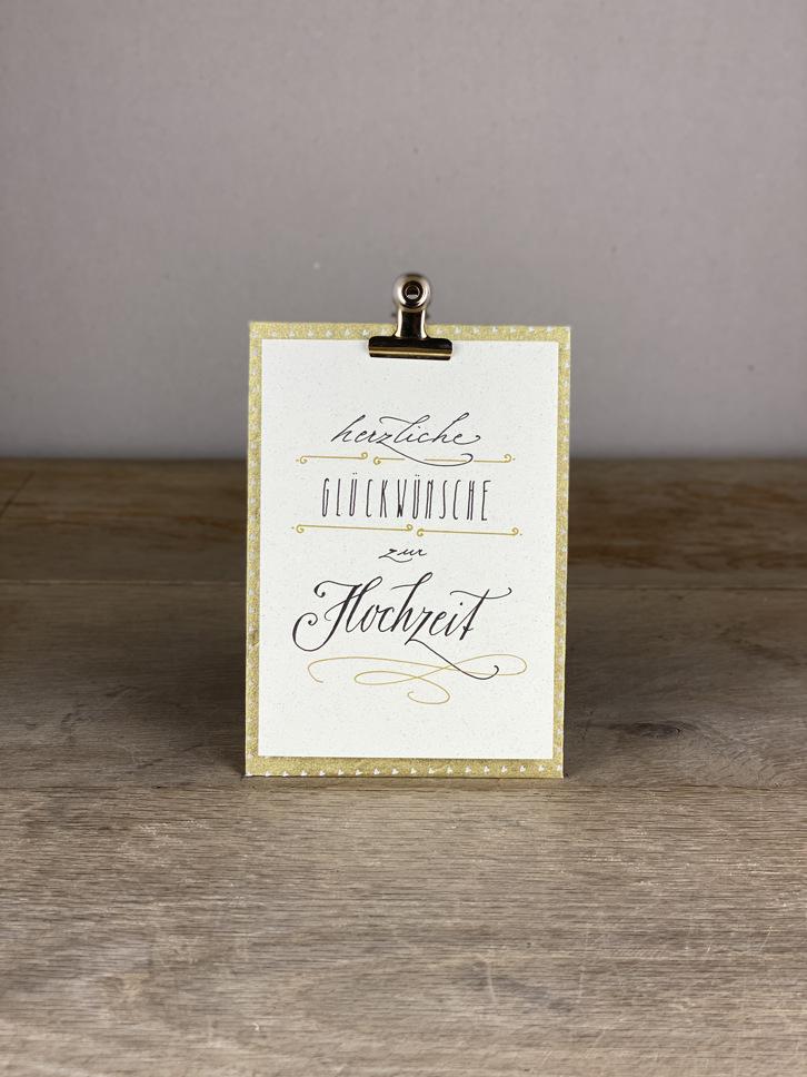 Karte A6 Herzliche Glückwünsche zur Hochzeit