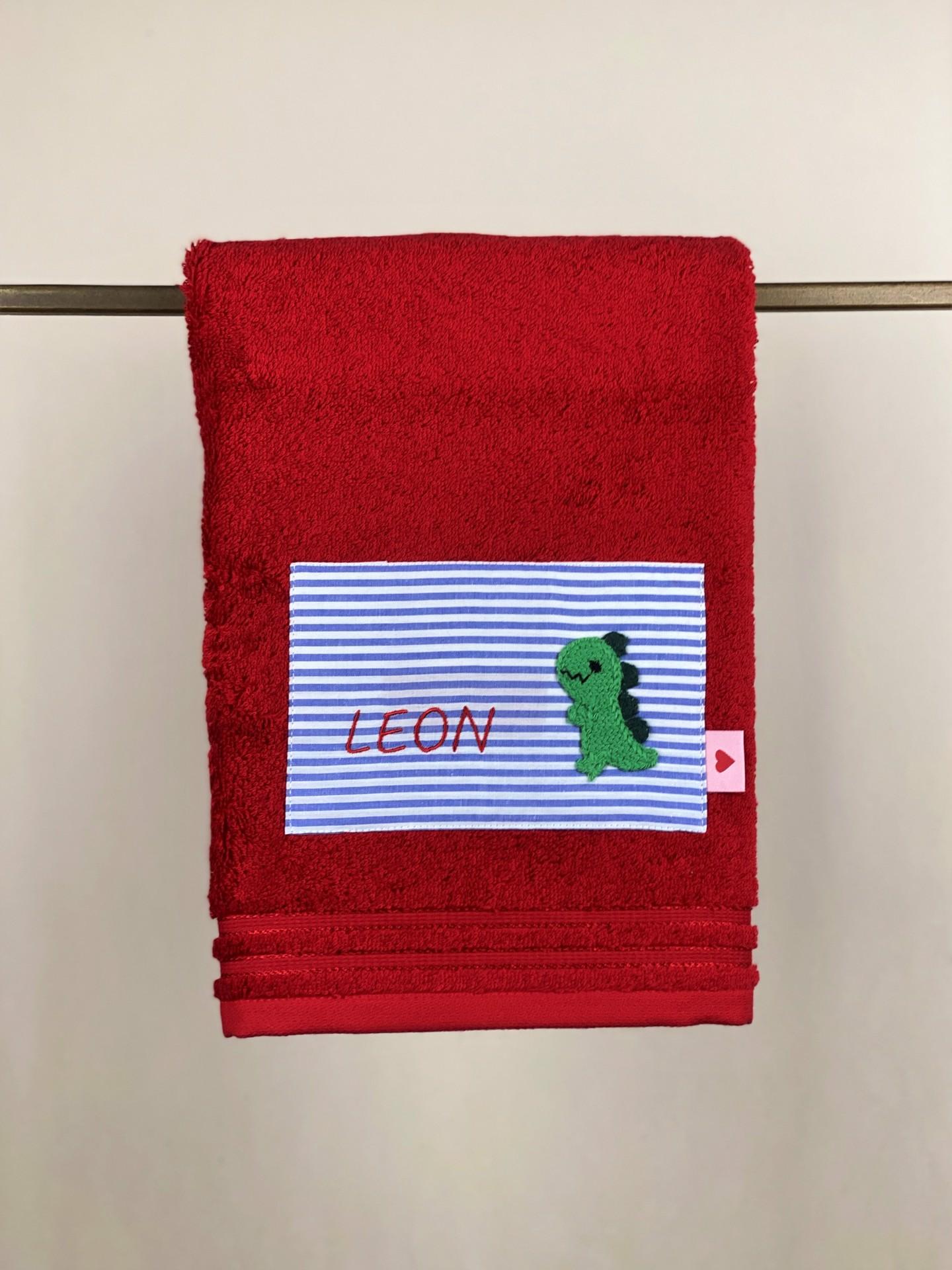 Handtuch No. 30 rot Dino