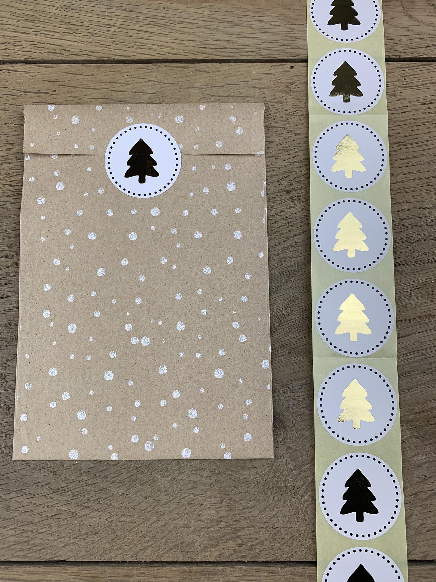 Sticker Weihnachten, Baum gold