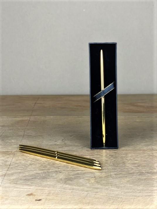 Kugelschreiber elegant gold