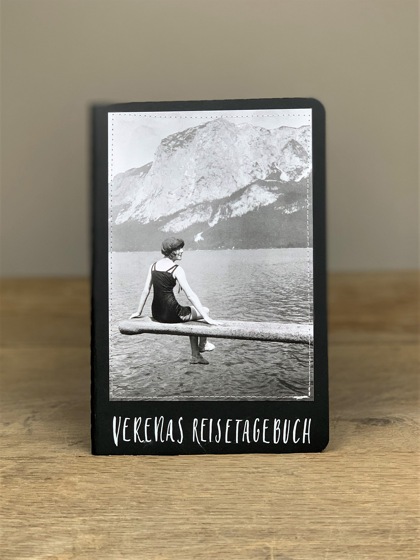 Heft B5 Reisetagebuch Frau Bergaussicht schwarz KH5