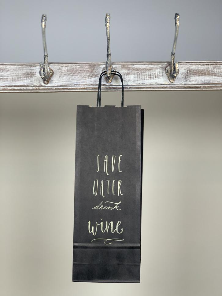 Weintasche save water drink wine