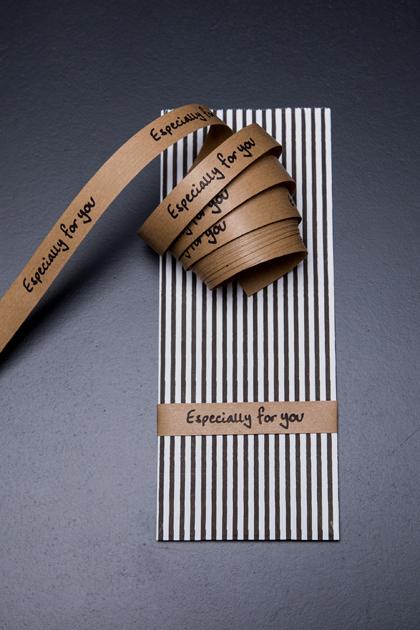 Papierband Especially for you braun/schwarz
