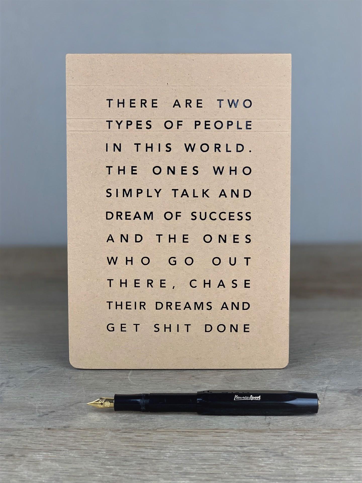Notizblock Two Types of People
