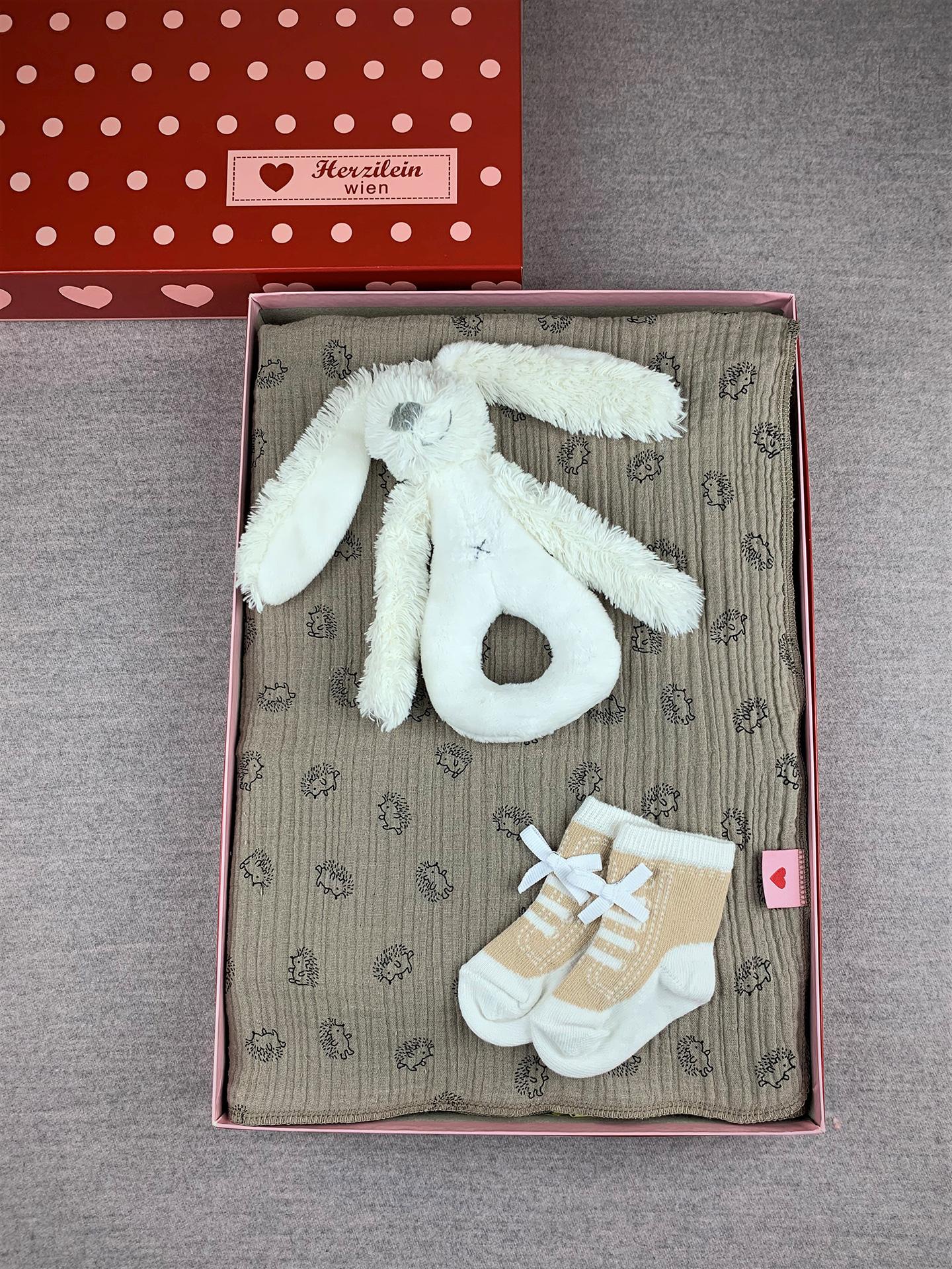 Geschenkbox Set No. 14 Igel beige