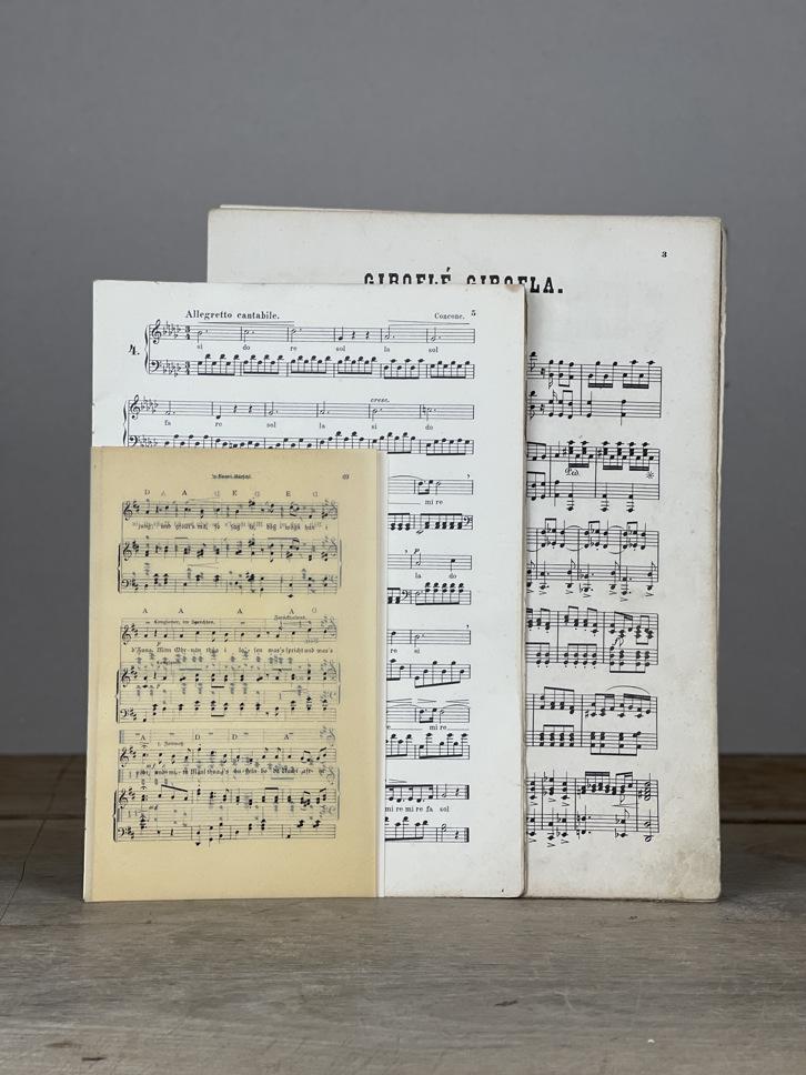 Alte Notenblätter Set 15 Seiten
