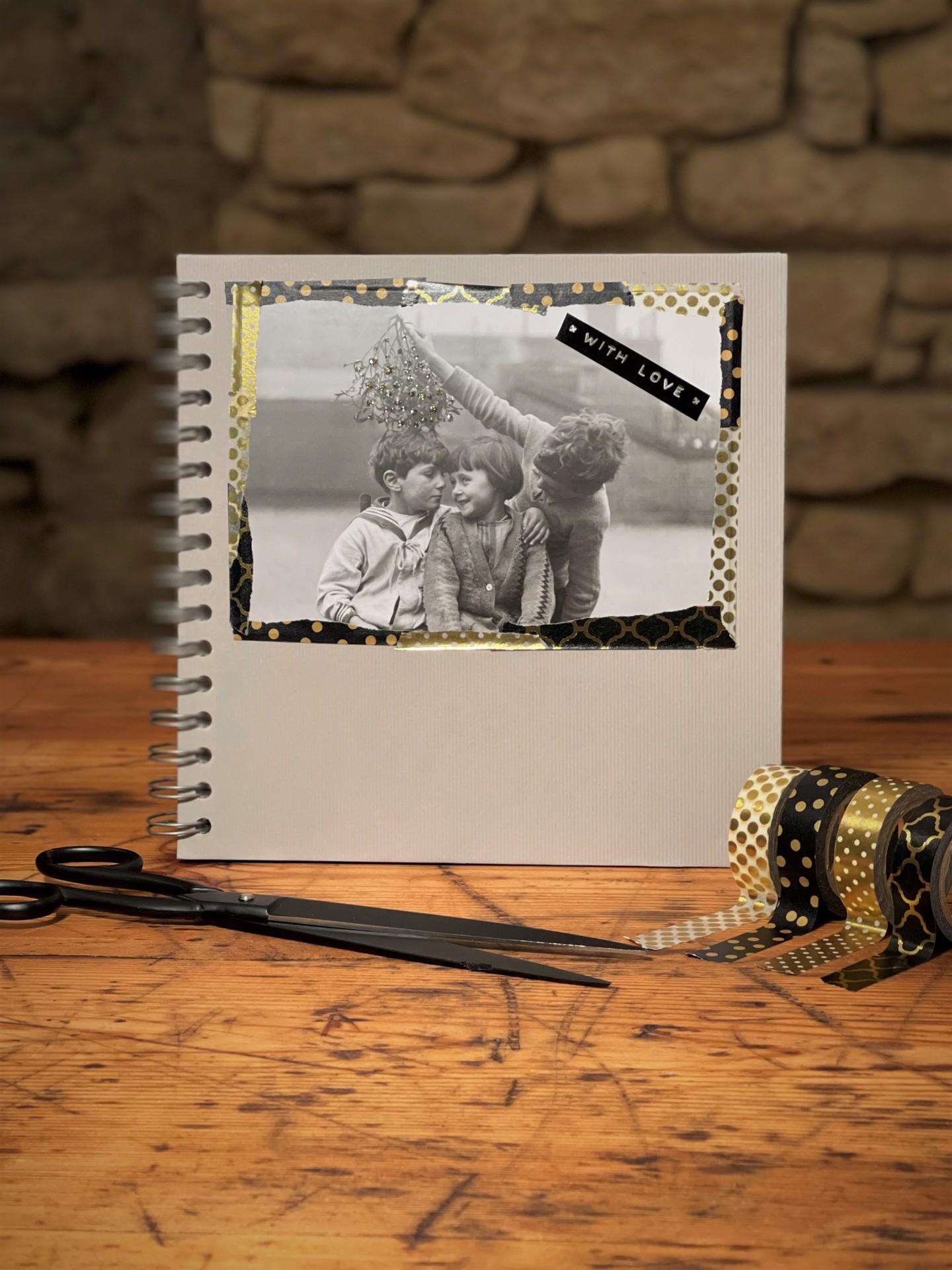 Fotoalbum schwarz/grau/kraft