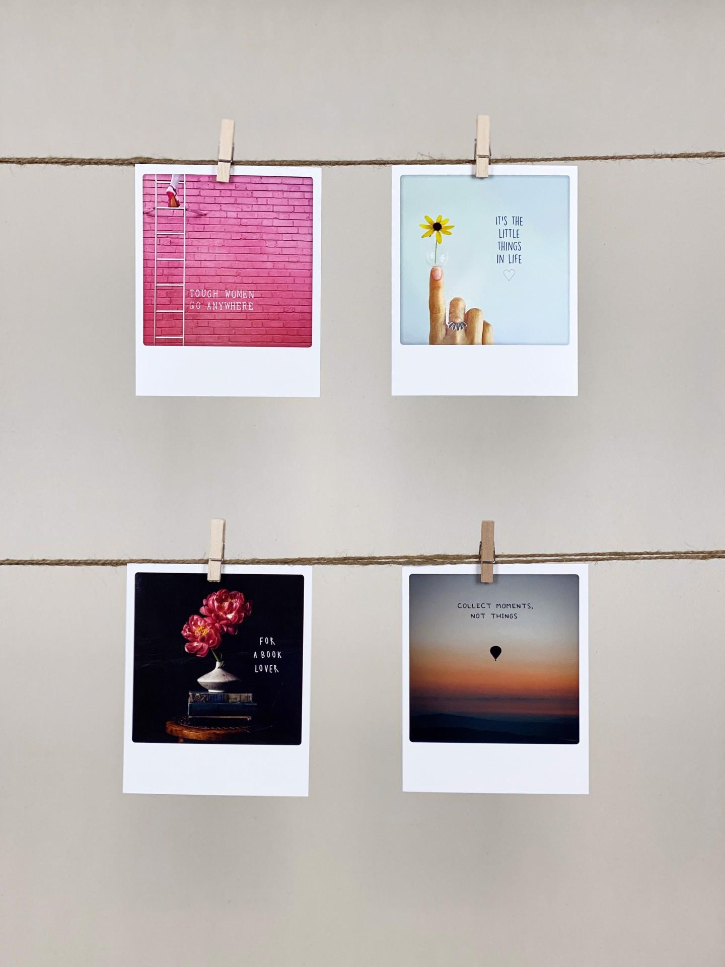 Polaroid-Karten-Set Mantras Women
