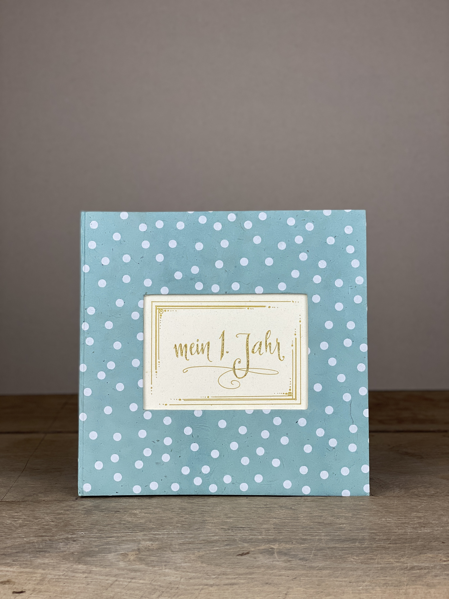 Album Hardcover Quart Dots blau/weiß