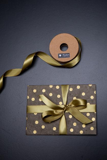 Geschenkband 5m uni gold
