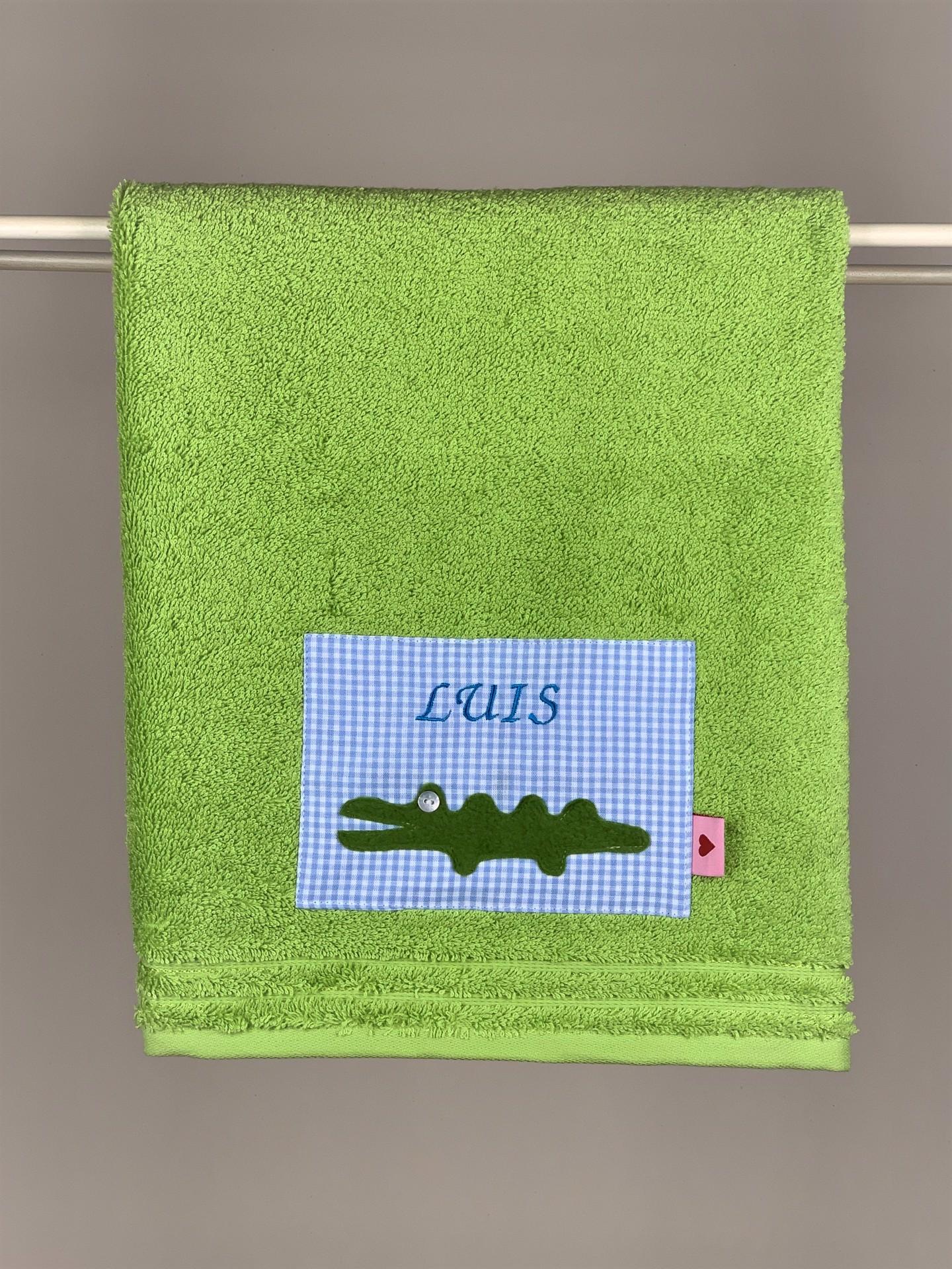 Handtuch No. 03 Kroko grün