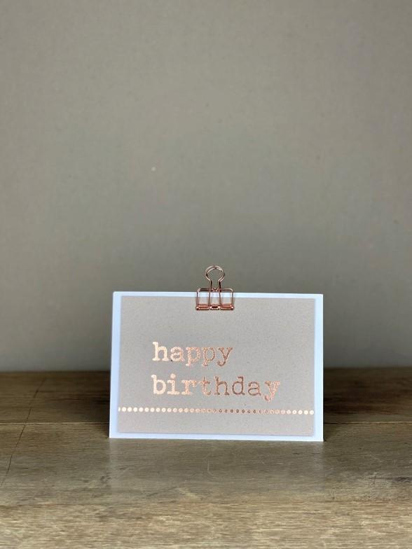 Postkarte rosé happy birthday