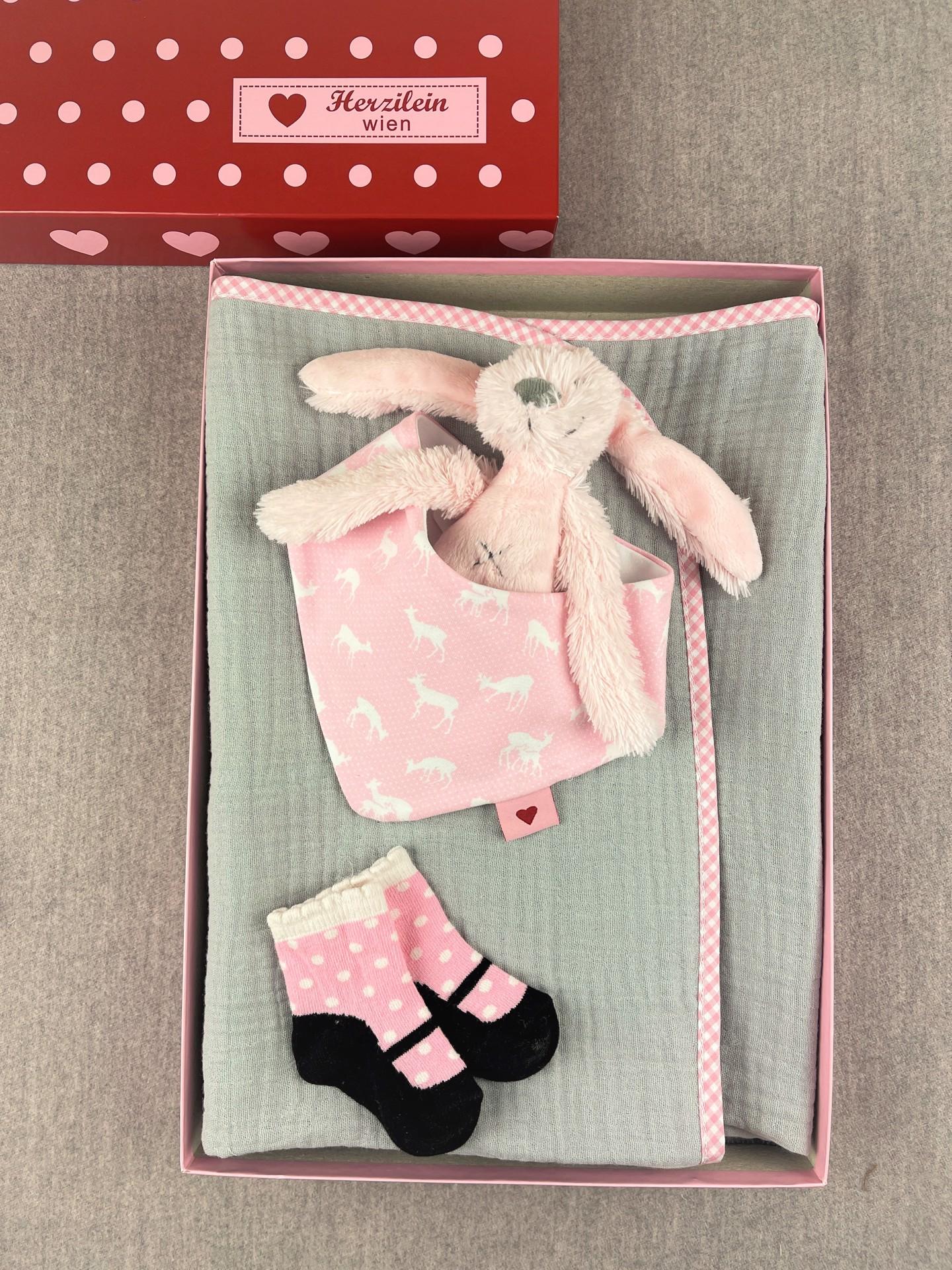 Geschenkbox Set No. 30 Bambi rosa/grau