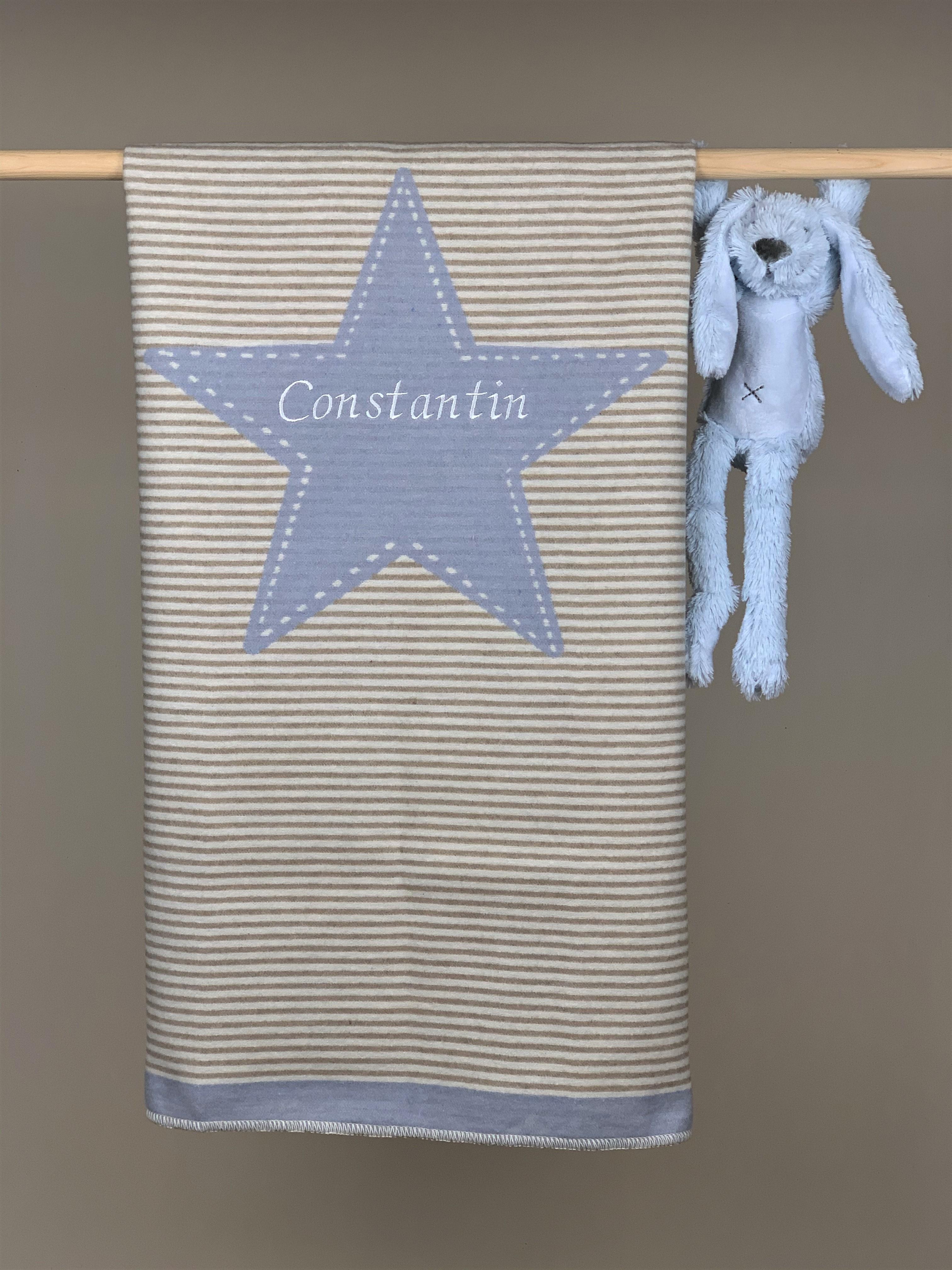 Babydecke No. 18 Stern blau