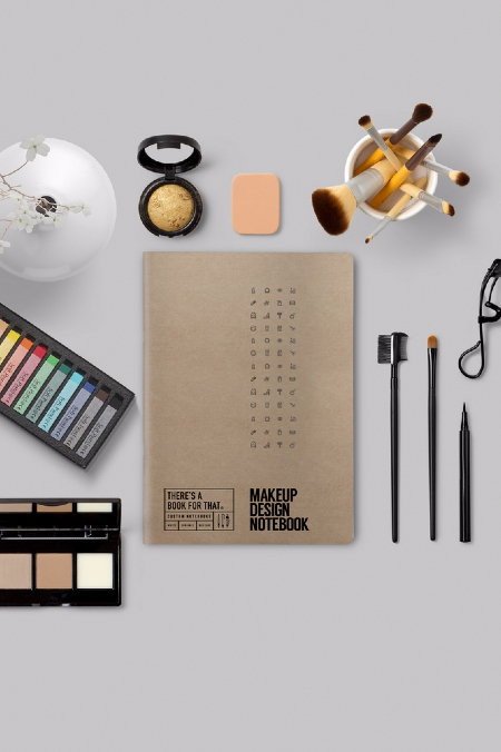 Notebook Makeup Design natur