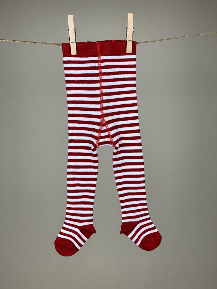 Strumpfhose Stripes rot/weiß
