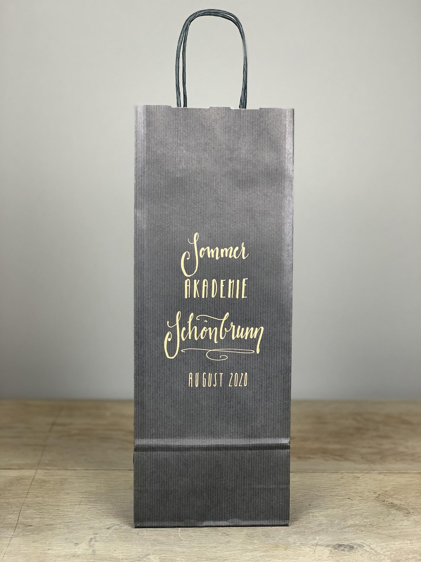 Weintasche Sommer Akademie schwarz/gold T1