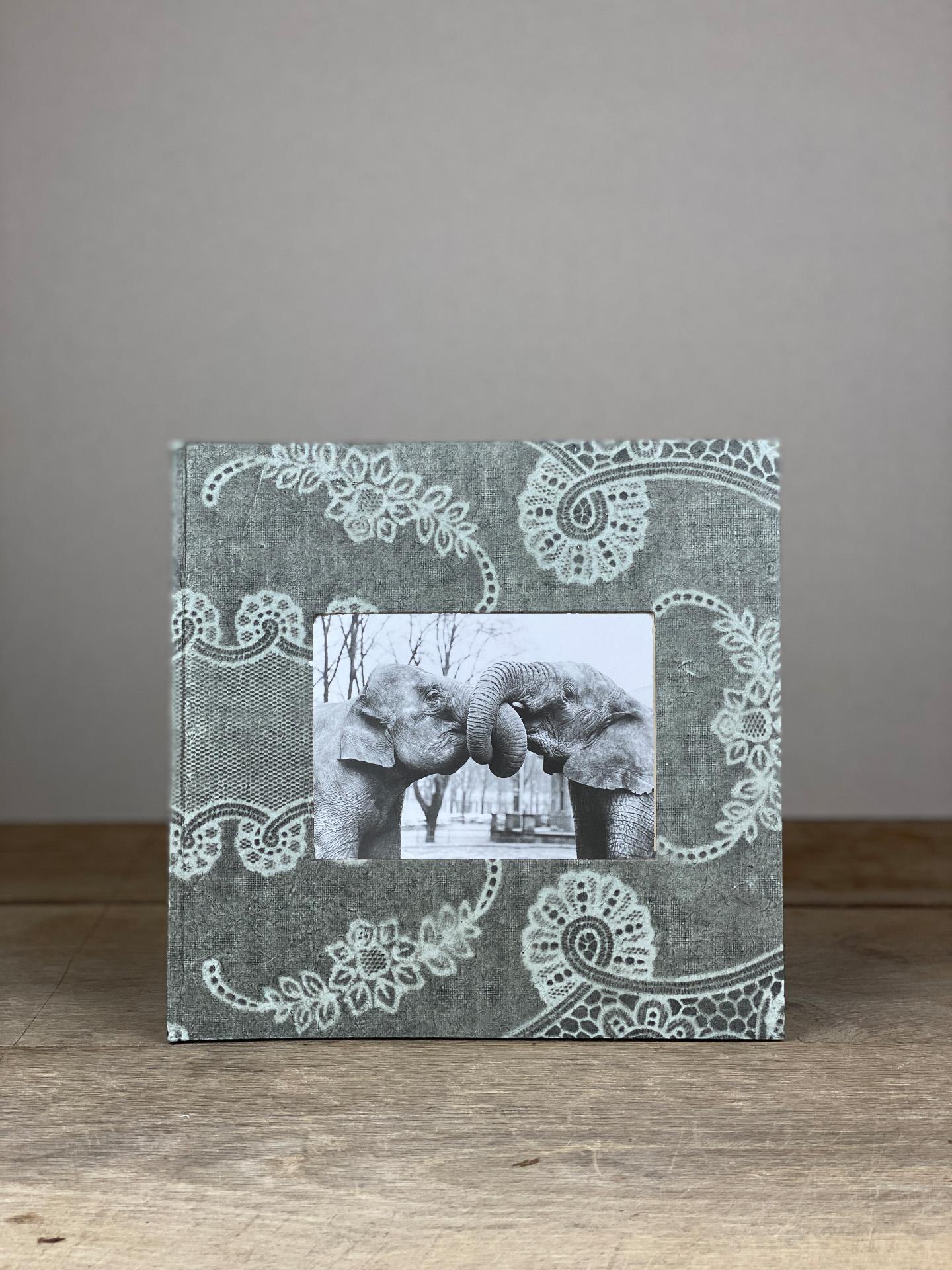 Album Hardcover Quart grau Spitze