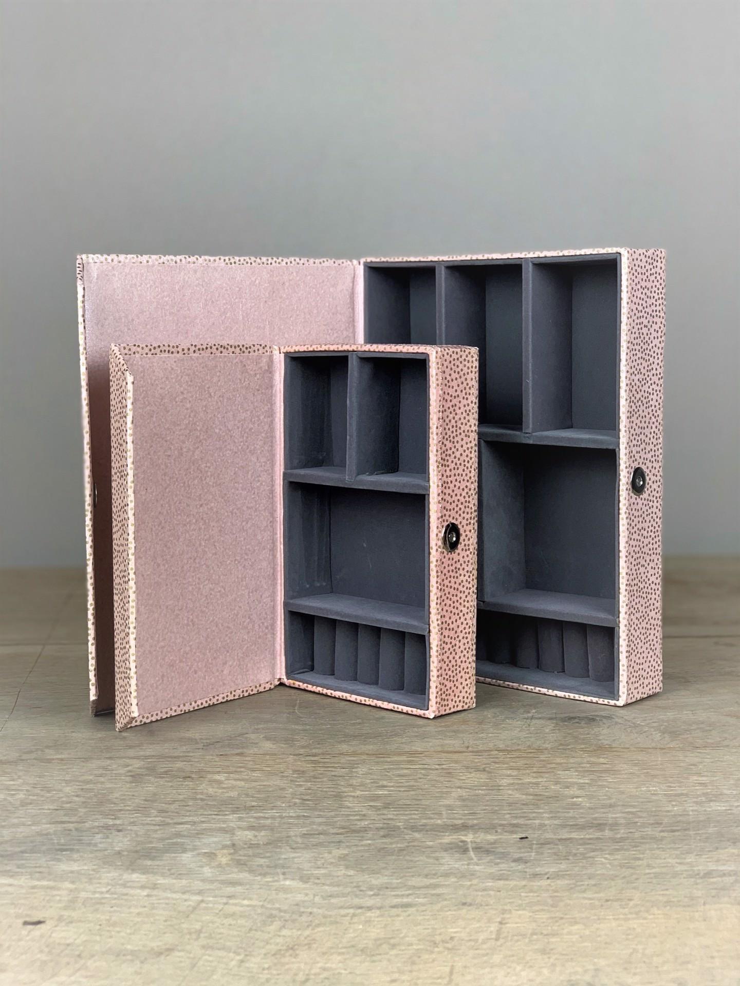 Schmuckbox Elegant rosa/gold