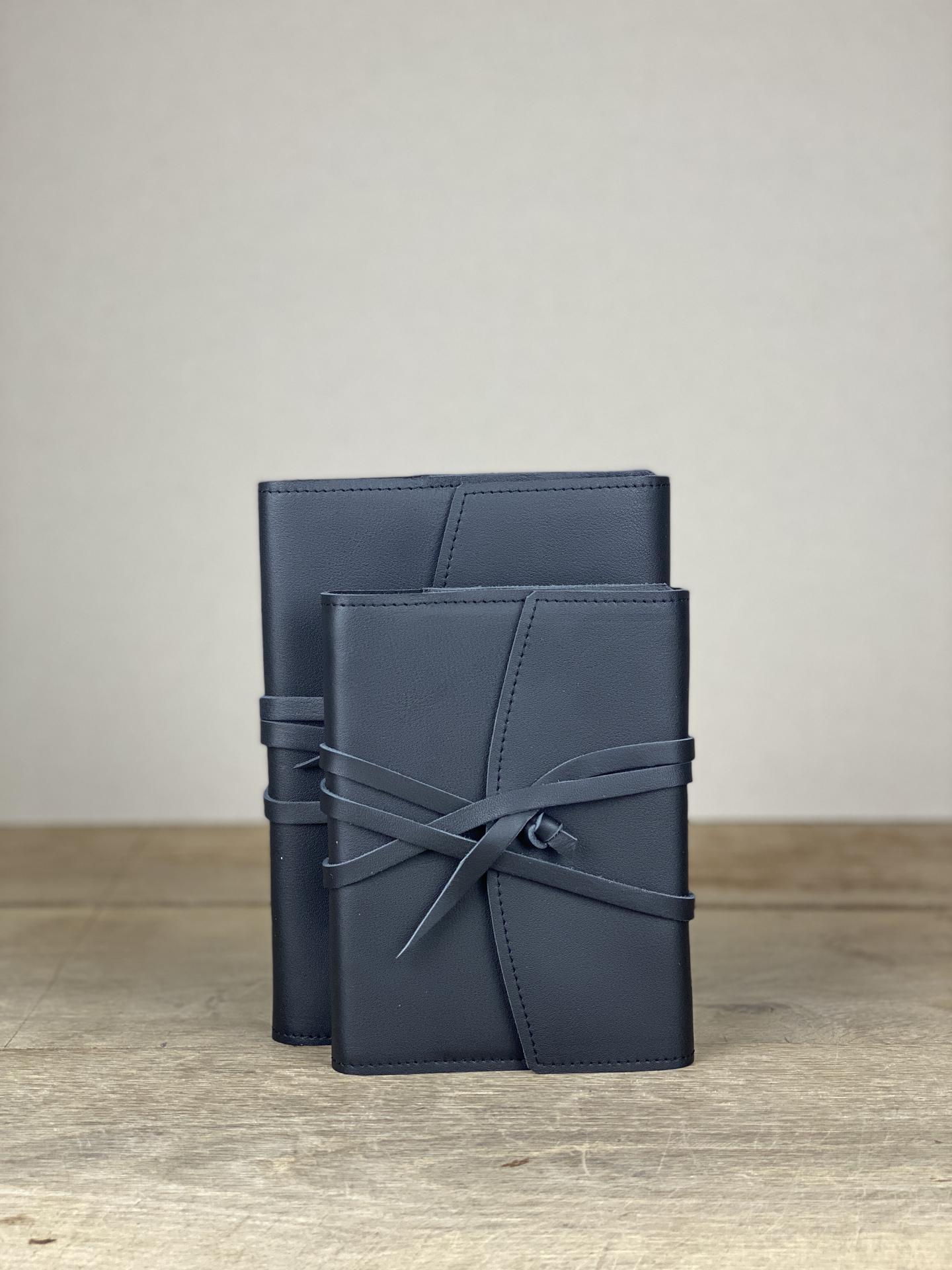 Notizbuch Leder schwarz