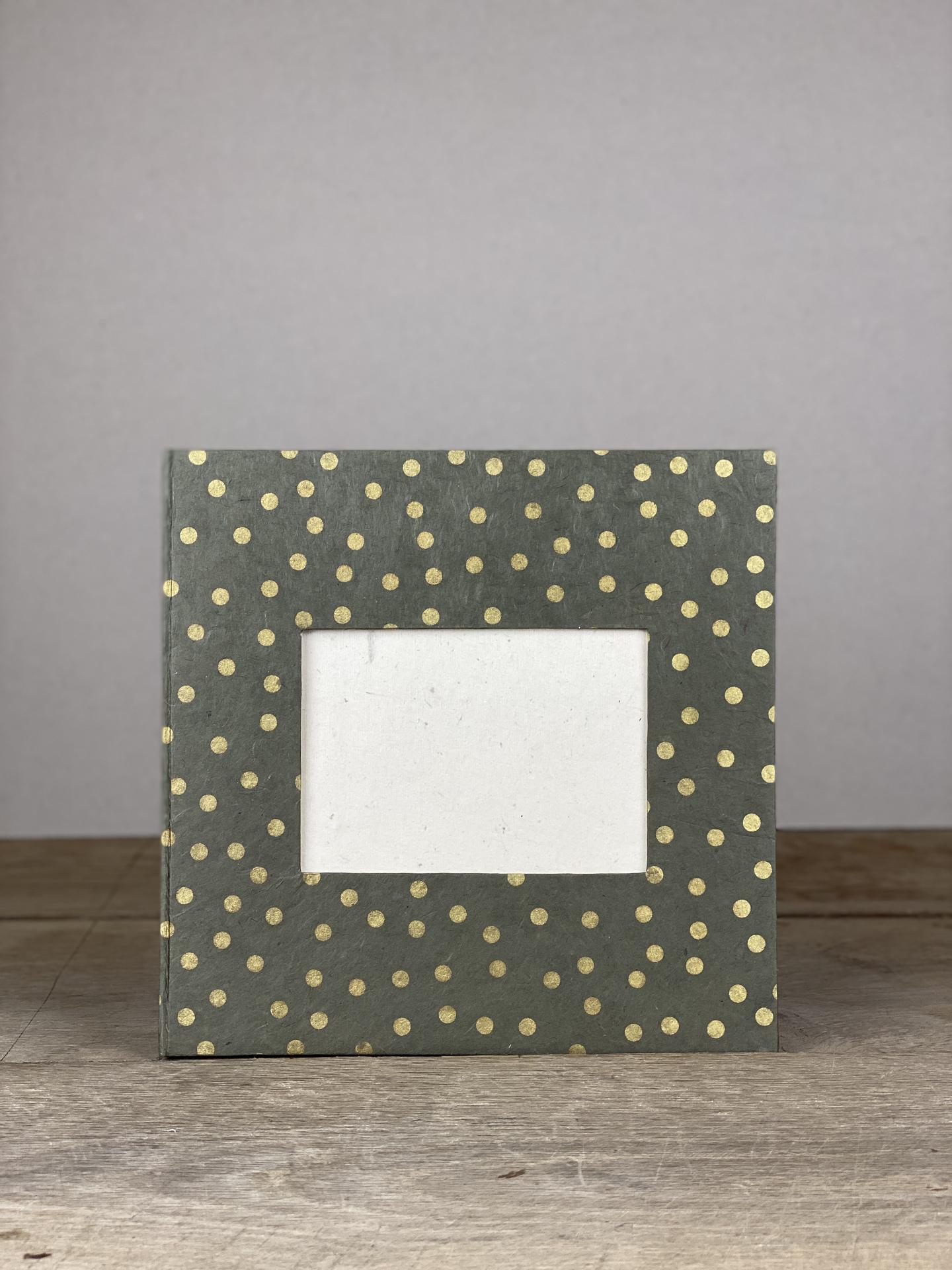 Album Hardcover Quart grau/gold dots