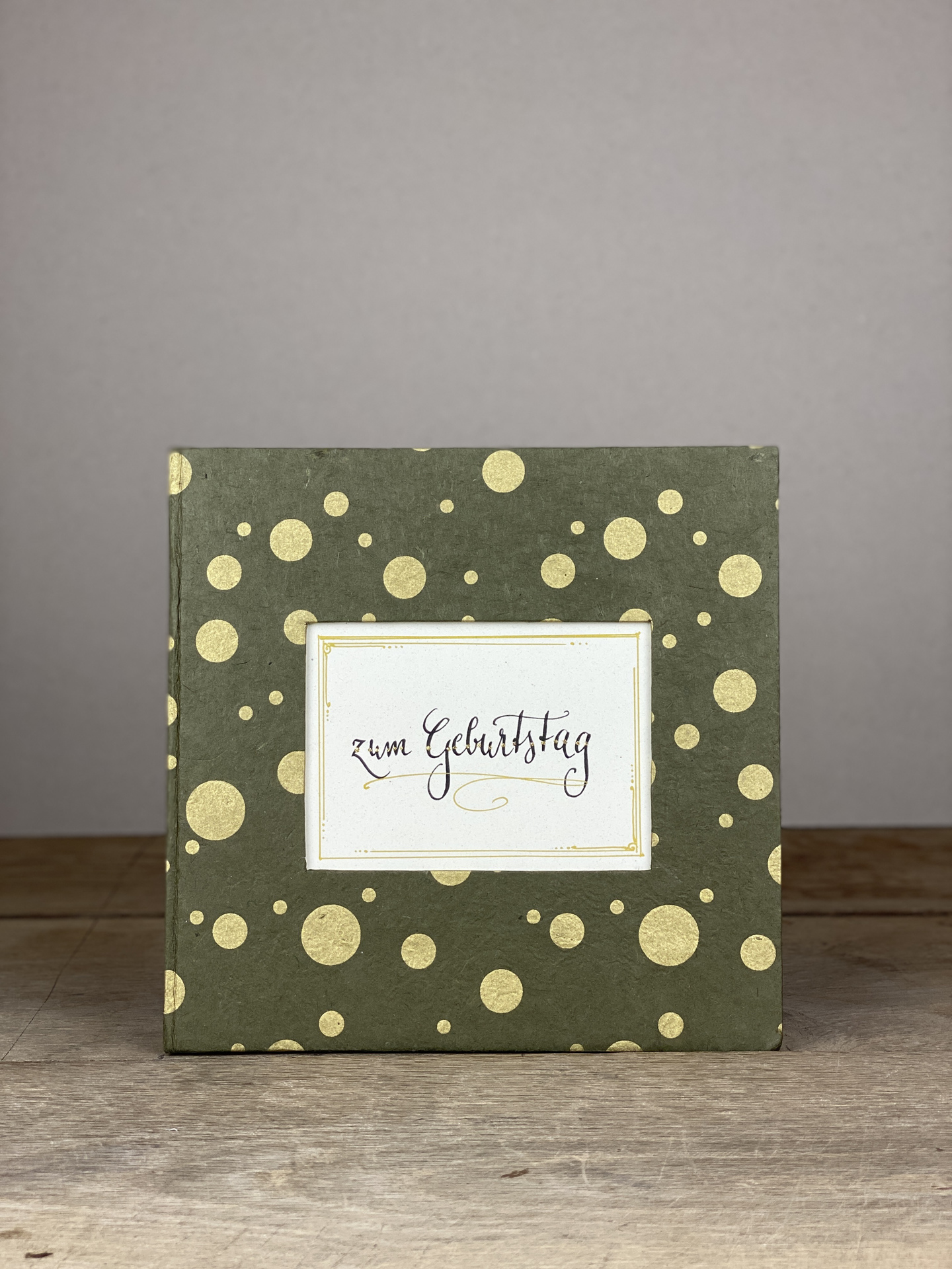 Album Hardcover Quart grau/gold Tupf