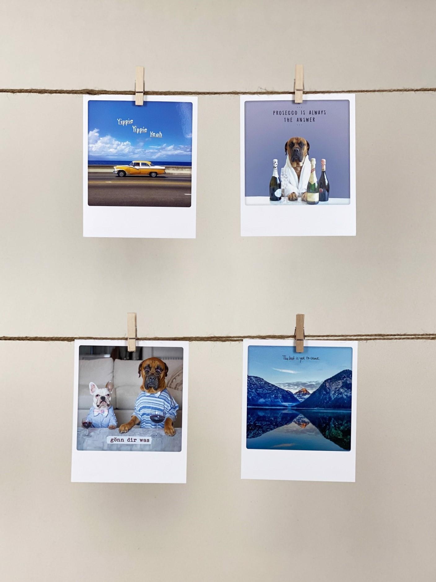 Polaroid-Karten-Set Mantras