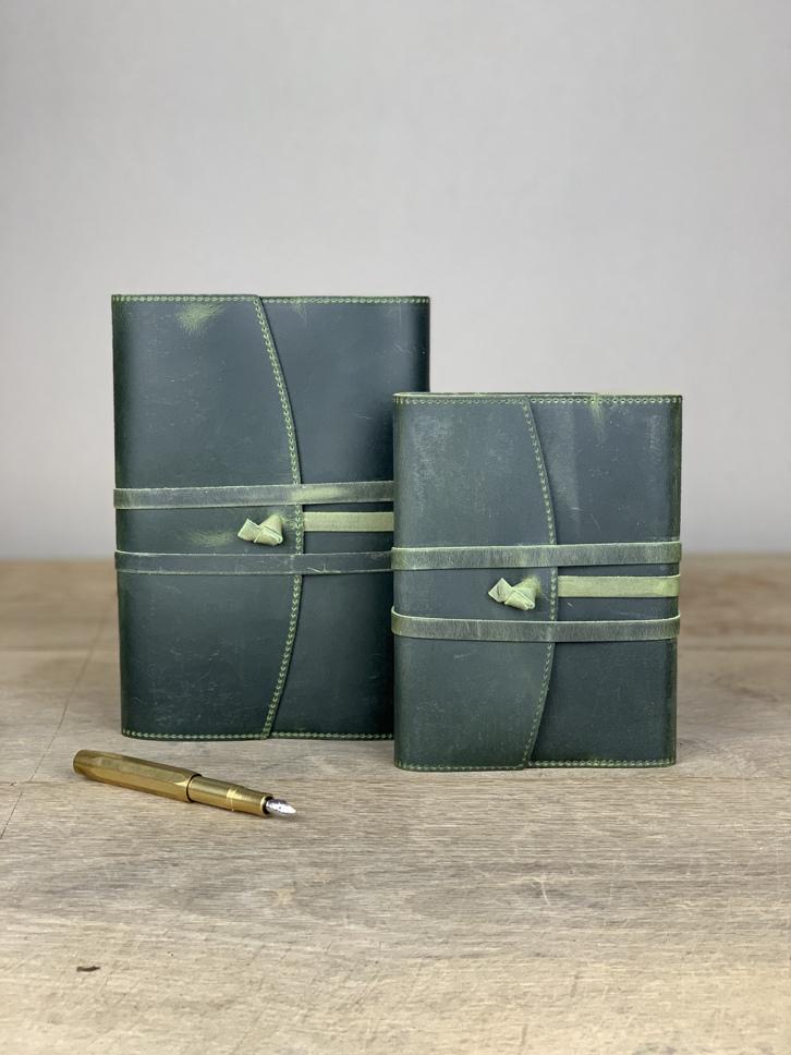 Notizbuch Leder grün