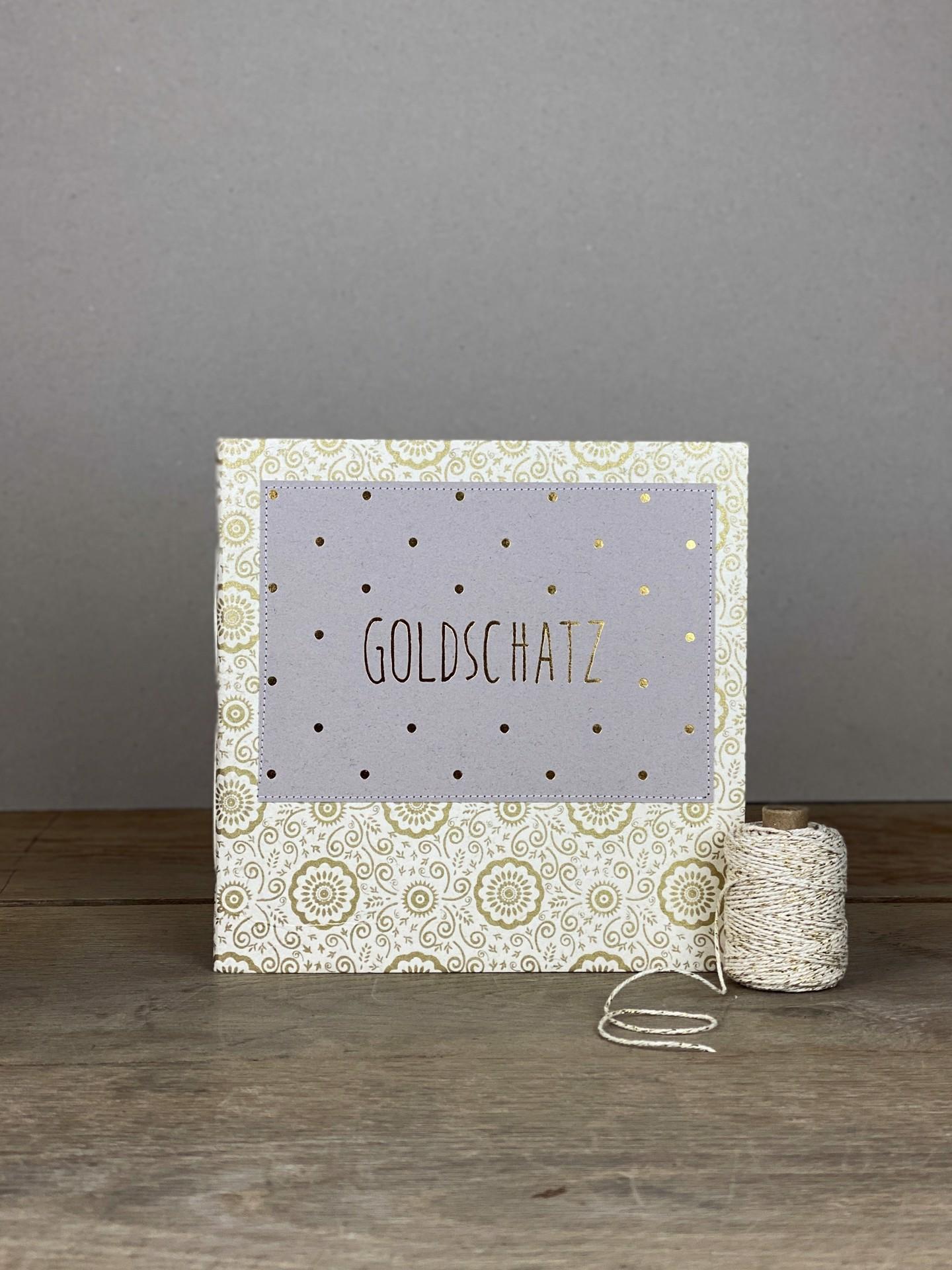 Album Softcover Quart Tag Goldschatz floral weiß/gold