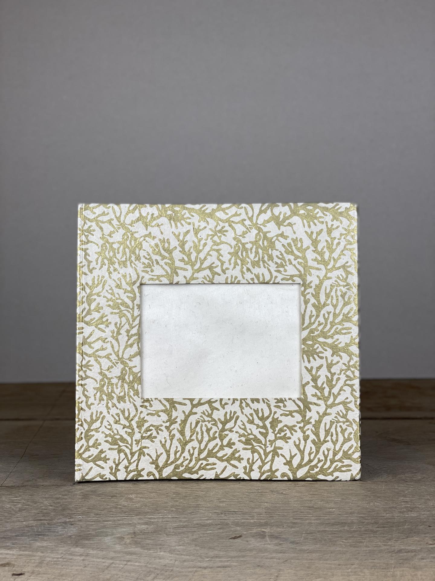 Album Hardcover Quart gold/weiß Koralle