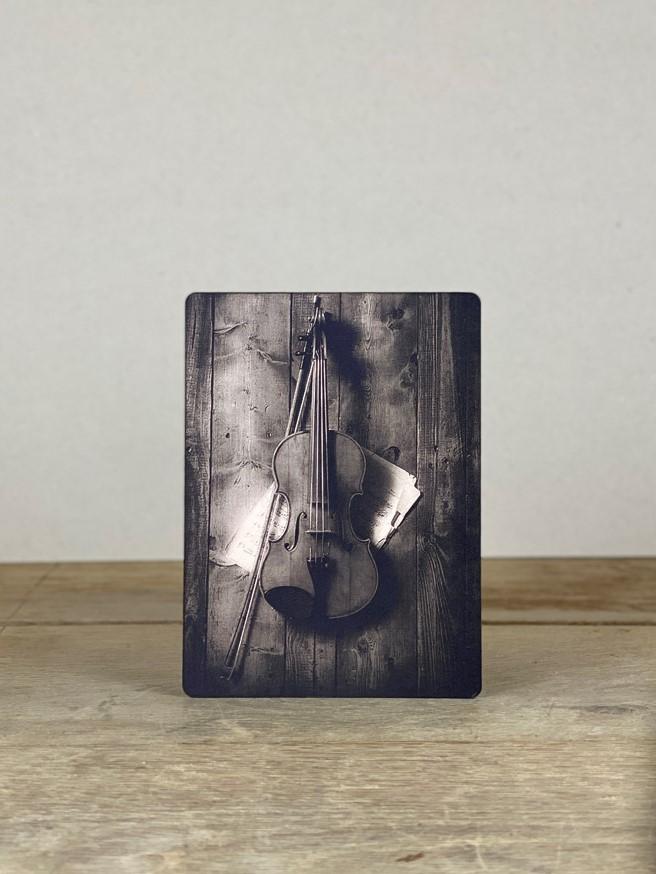 Vintage Holzbild Geige