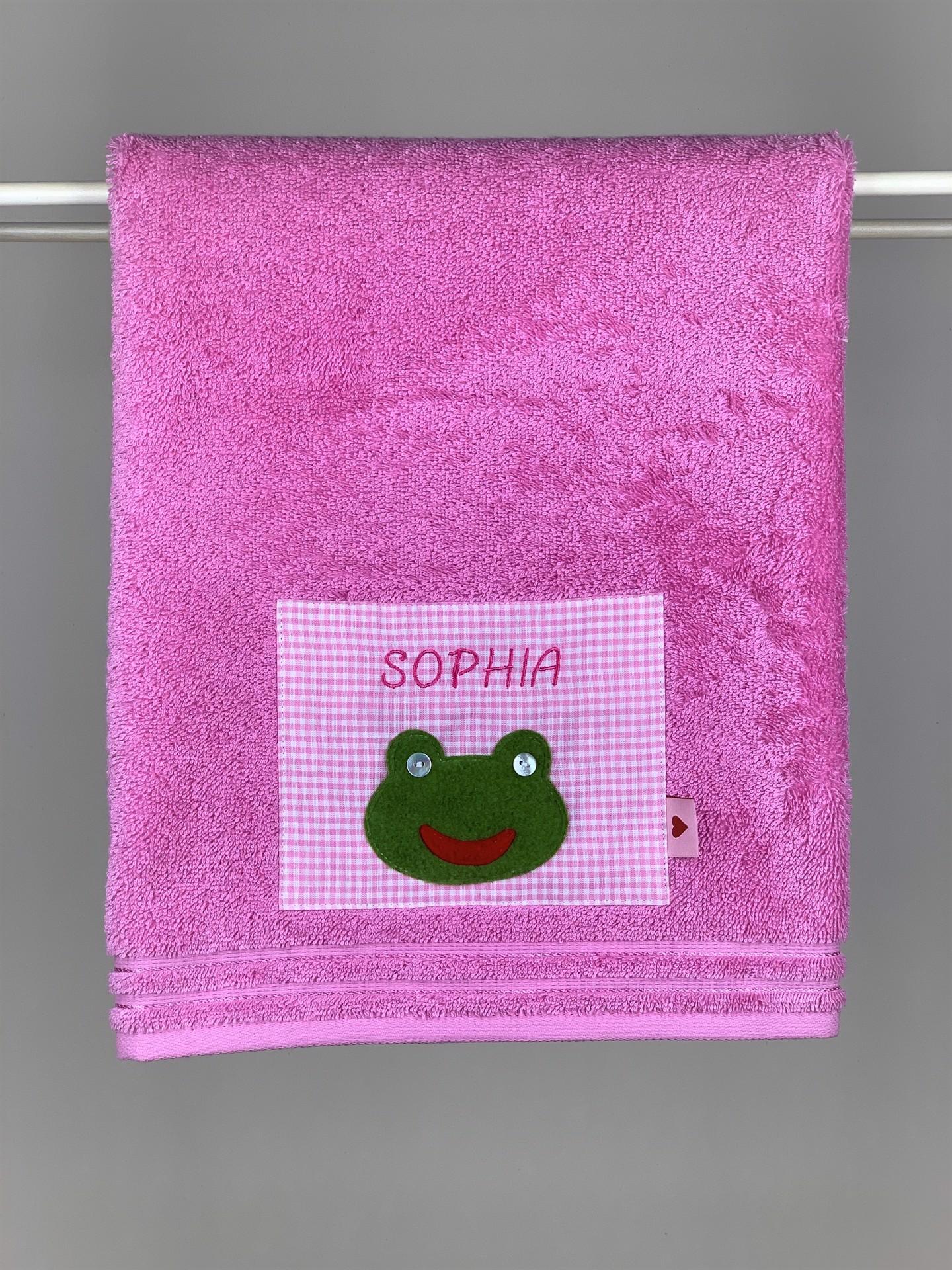 Handtuch No. 06 Frosch rosa