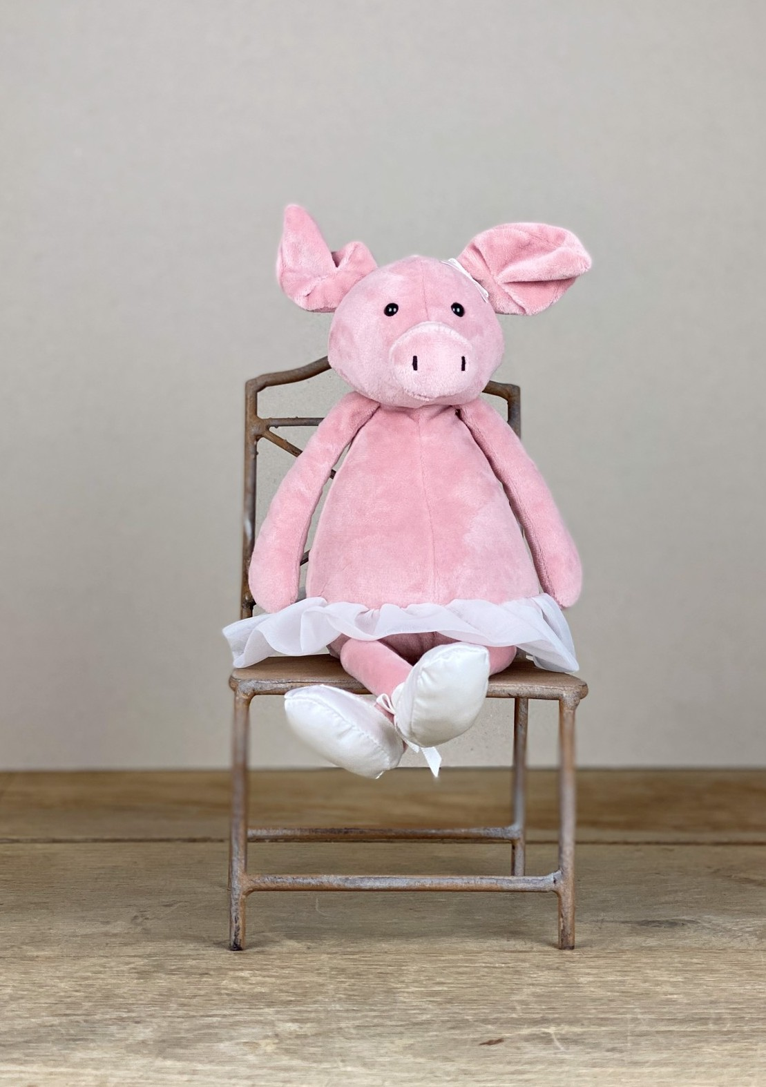 Stofftier Ballerina Schwein